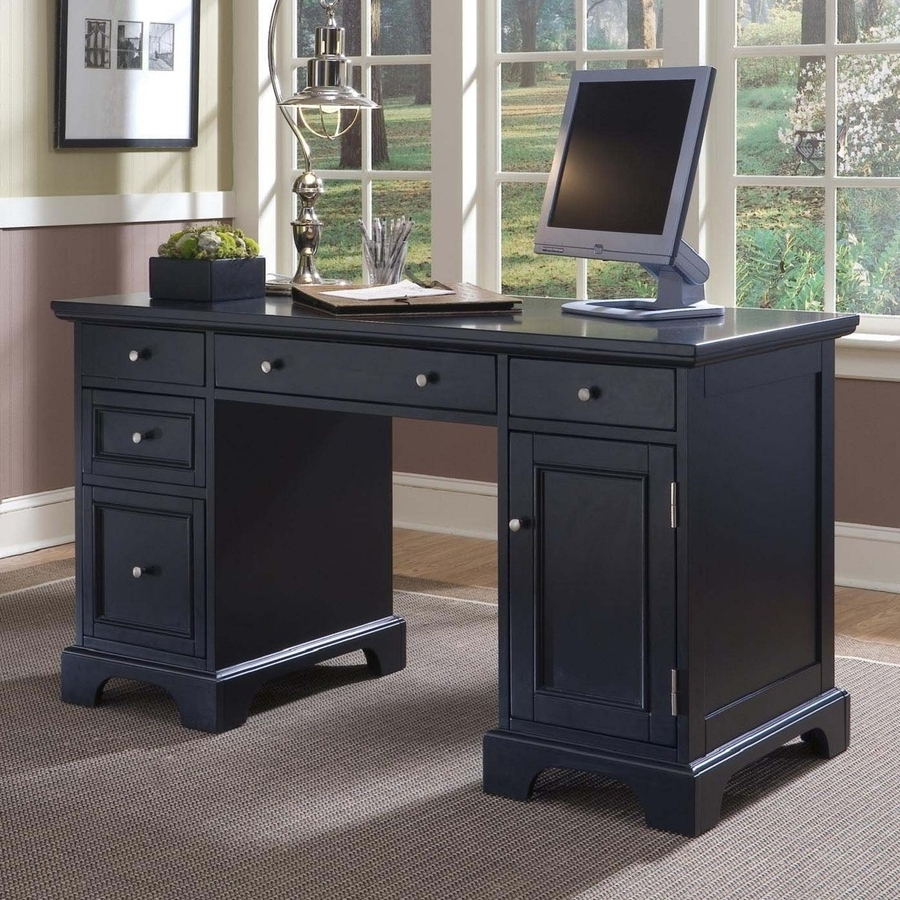Computer Desks At Lowes Pertaining To Most Up To Date Shop Home Styles Bedford Transitional Computer Desk At Lowes (View 4 of 20)