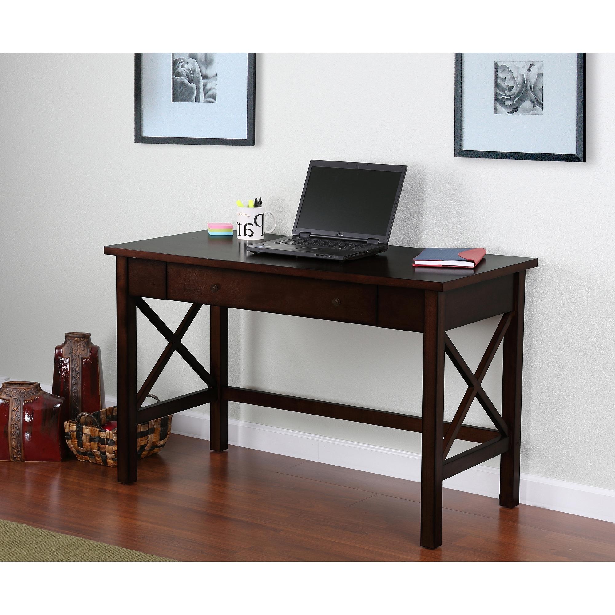Computer Desks At Walmart Throughout Famous Ashmore Desk – Walmart (View 9 of 20)