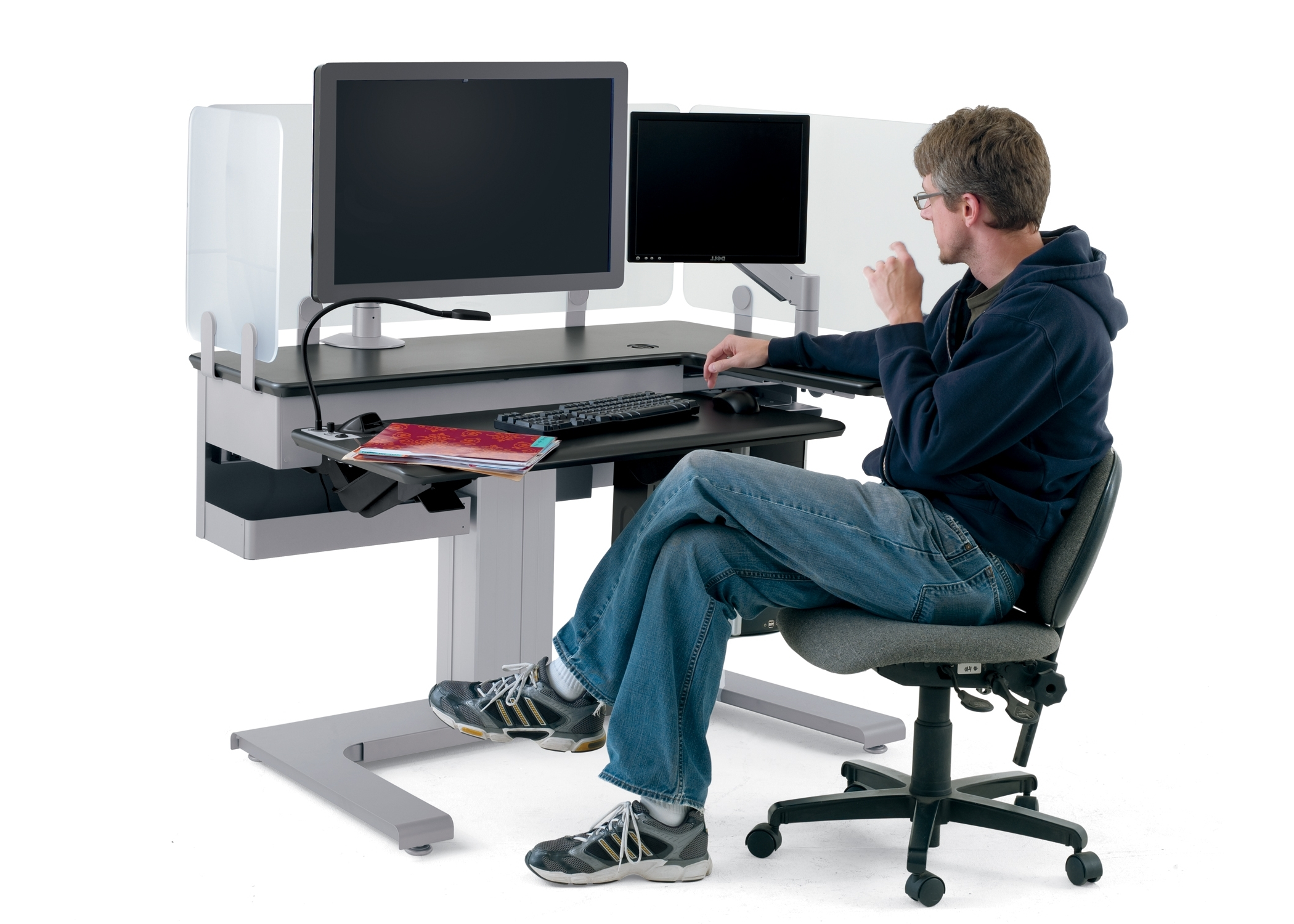 Computer Desks Ergonomic For Home Inside Most Current Adjustable Height Office Furniture Ergonomic Office Equipment Pine (View 4 of 20)