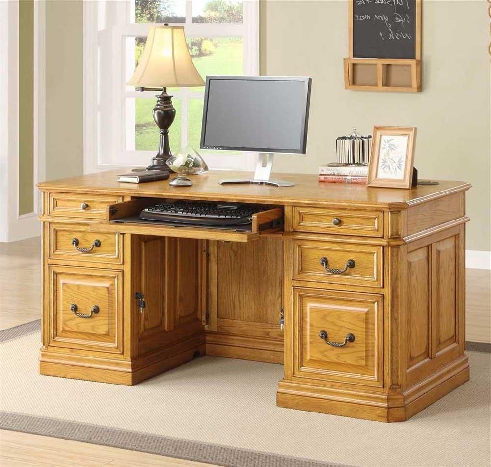 Computer Desks In Oak For Most Popular Popular Oak Computer Desk (View 3 of 20)