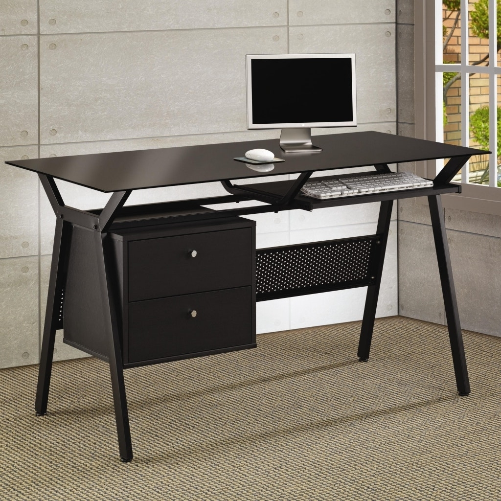 Computer Desks Target Within Well Liked Small Computer Desk Target Desks At Throughout Glass Expensive (View 8 of 20)