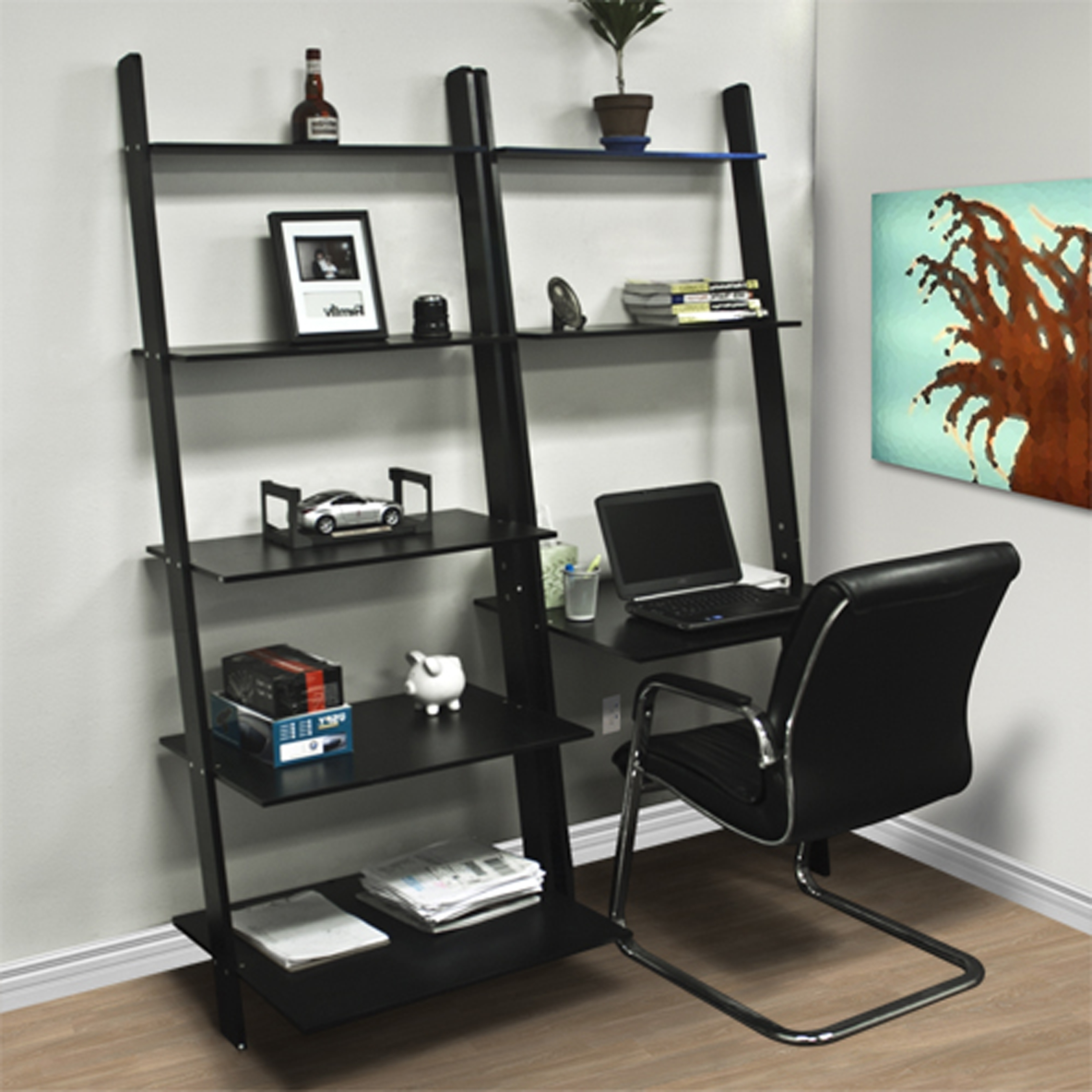 mainstays bookshelf ip com desk computer walmart black