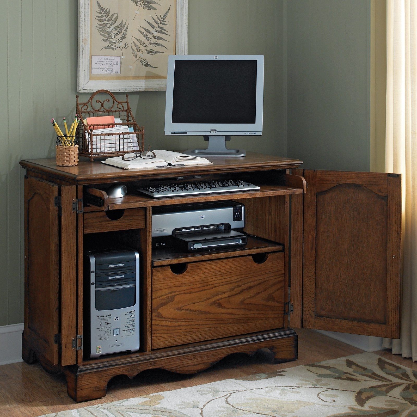 Computer Desks With Doors For Most Popular Furniture (View 16 of 20)