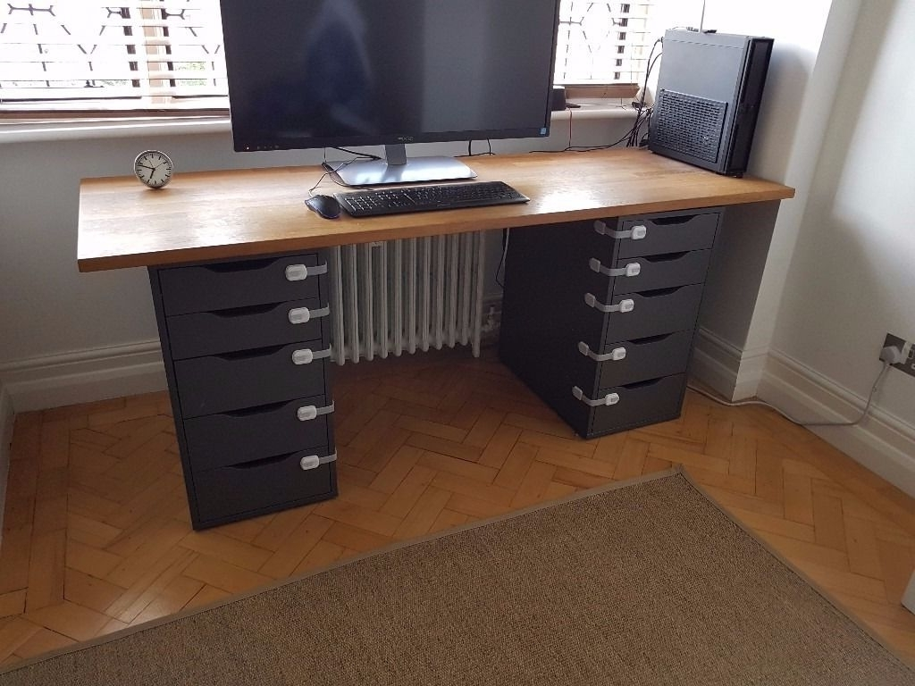 Computer Desks With Drawers Throughout Favorite Large Computer Desk Drawers – New Furniture (View 8 of 20)