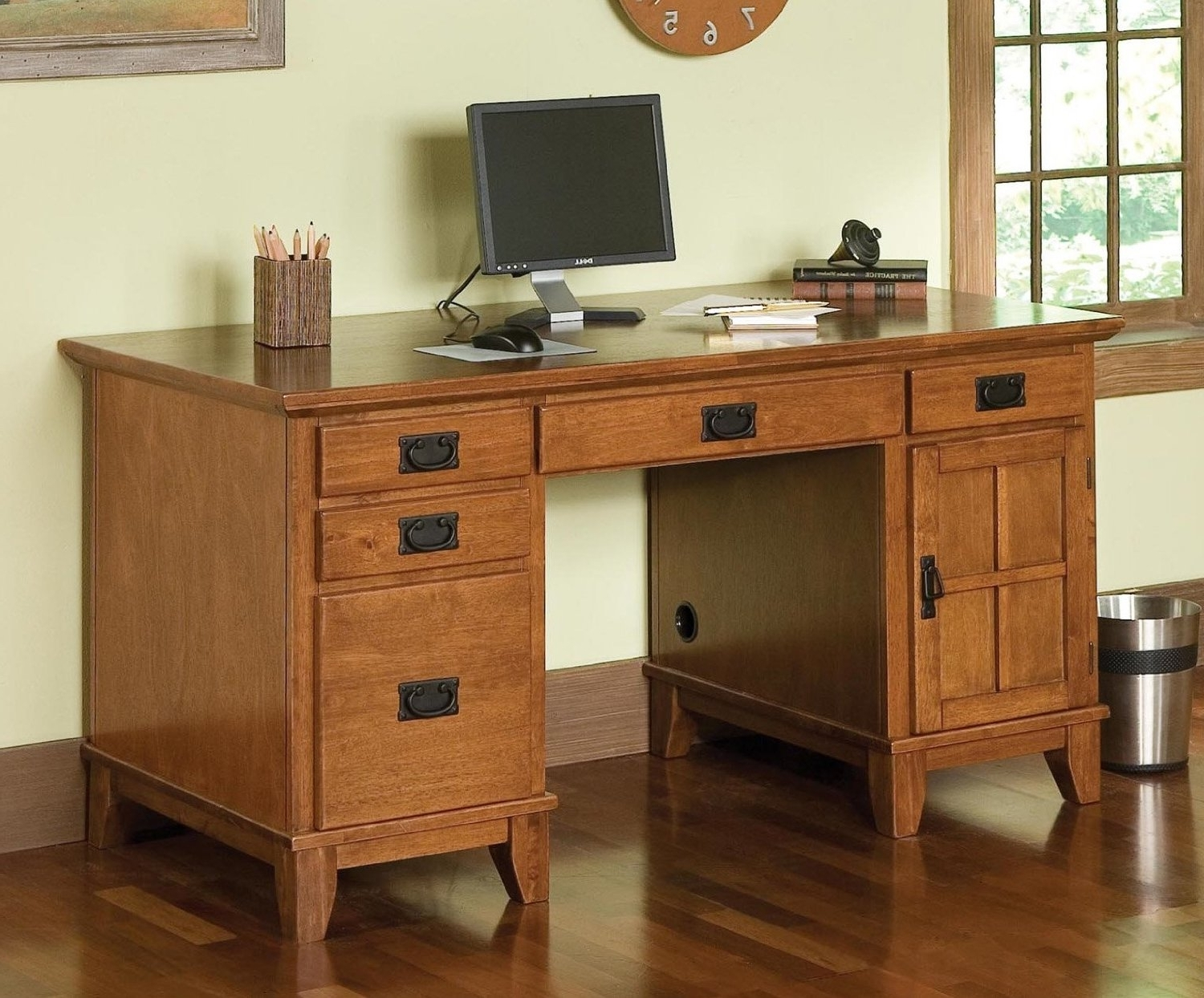 Computer Desks With Drawers Within Most Up To Date Solid Wood Computer Desk Design — Home Design Ideas : Build A (View 9 of 20)