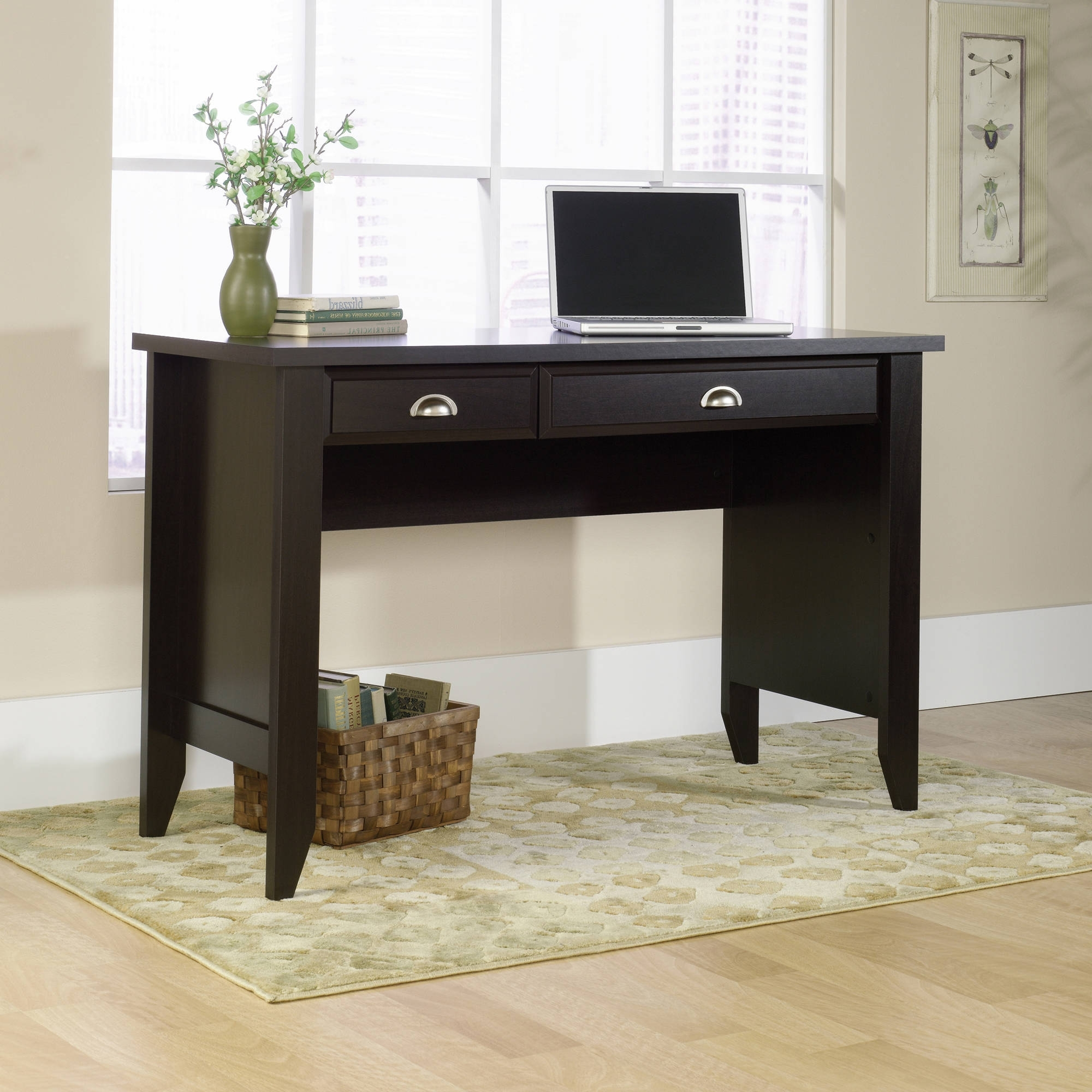 Computer Desks With Keyboard Tray Pertaining To Most Current Sauder Shoal Creek Computer Desk In Multiple Colors – Walmart (View 5 of 20)