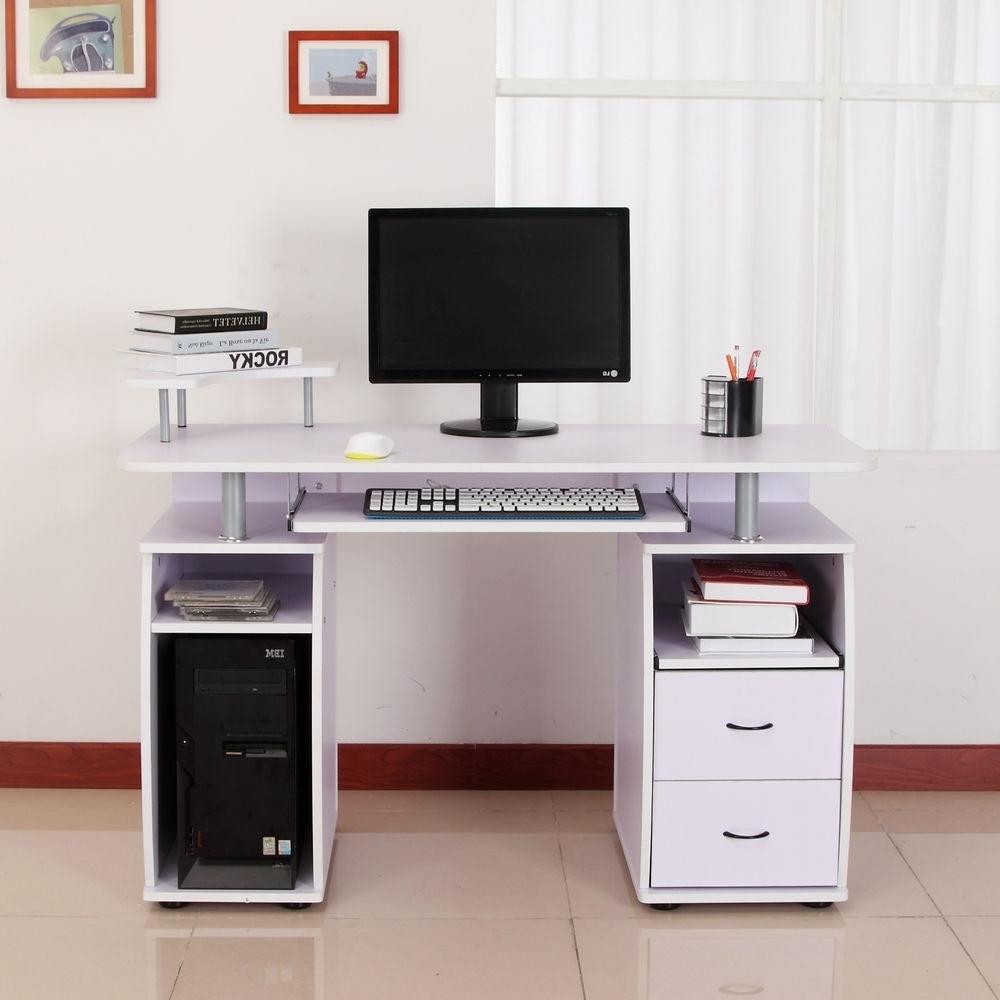 Computer Desks With Printer Shelf Regarding Most Up To Date 17 Corner Computer Desk With Printer Shelves, Computer Desk With (View 4 of 20)
