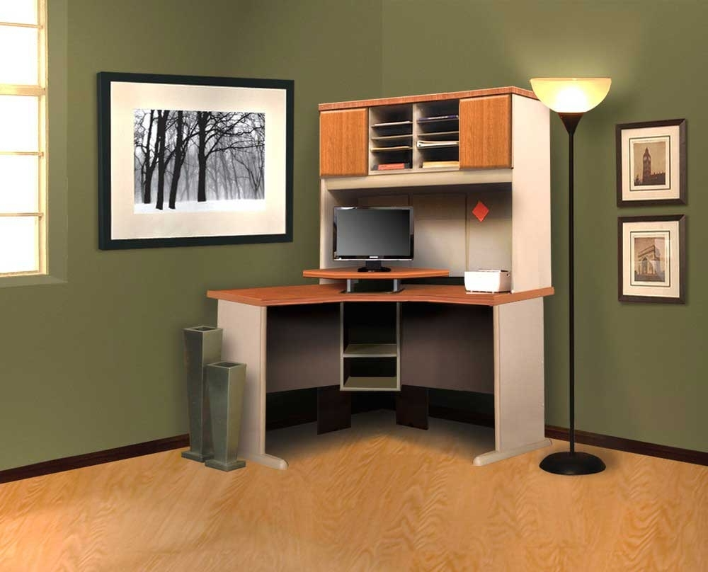 Computer Desks With Shelves With Favorite Simple Corner Computer Desk With Hutch — The Clayton Design (View 9 of 20)