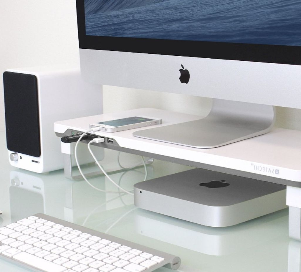 Computer Desks With Usb Ports Inside Widely Used Satechi F3 Smart Monitor Stand (View 20 of 20)