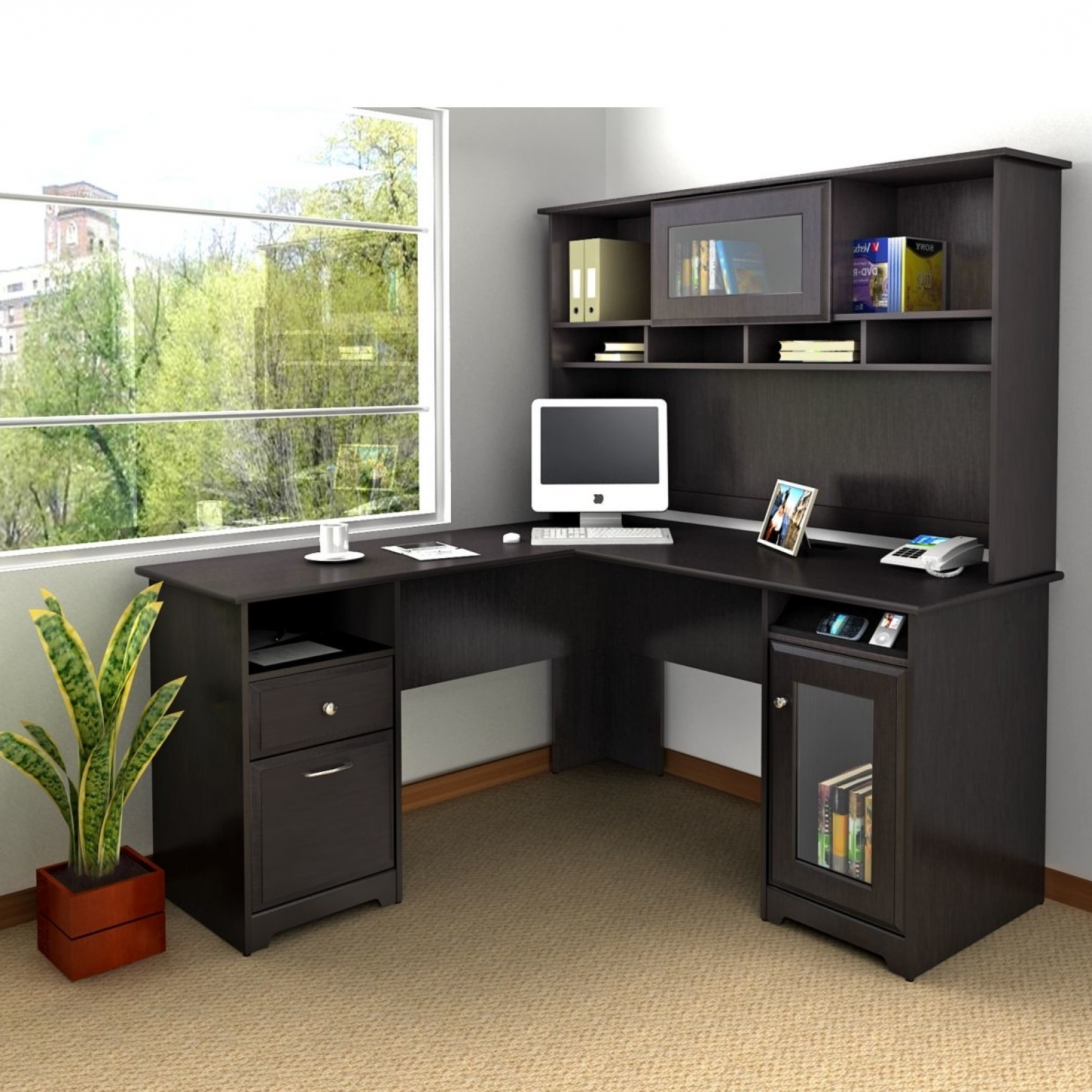 Computer Desks With Usb Ports Within Favorite Wonderful L Shape Computer Desks Desk L Shaped Computer Desks For (View 4 of 20)