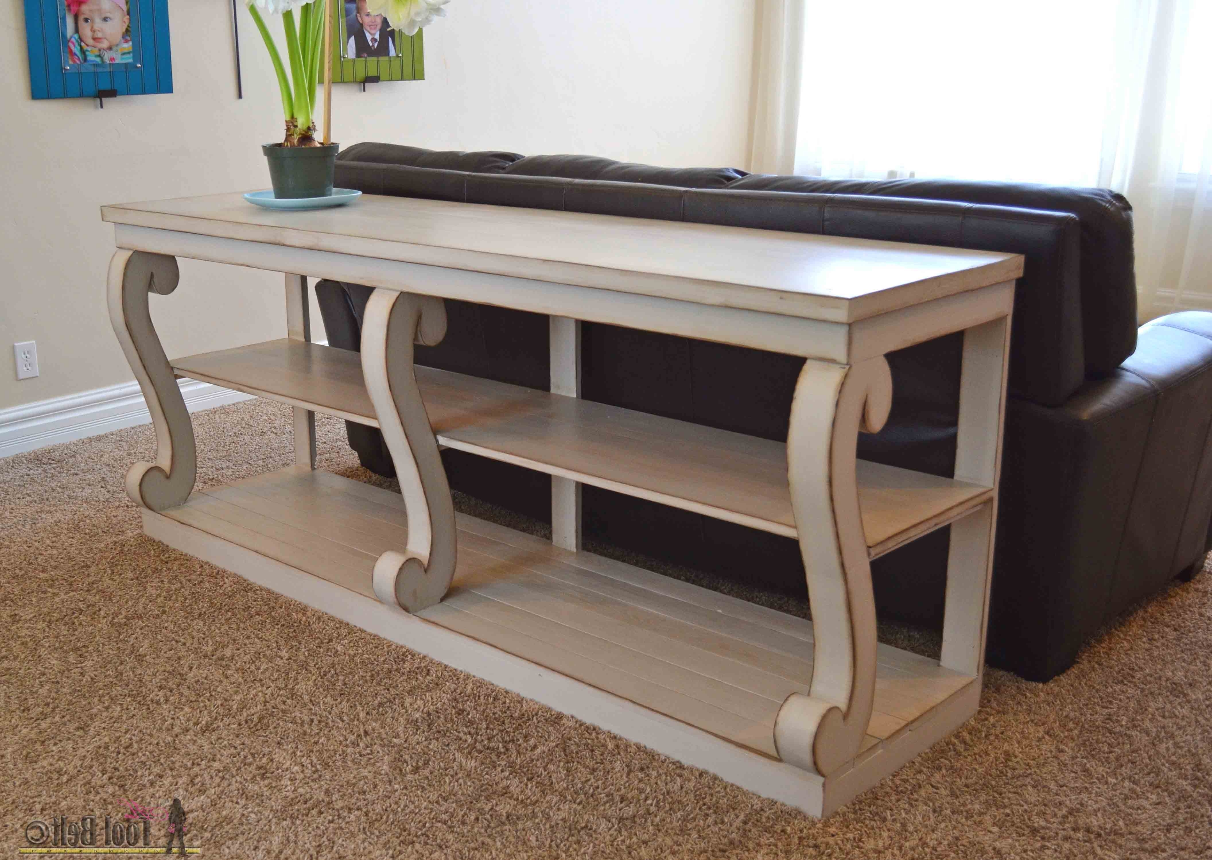 Console Table With Scroll Legs – Her Tool Belt Intended For Well Known Sofas With Back Consoles (View 2 of 20)
