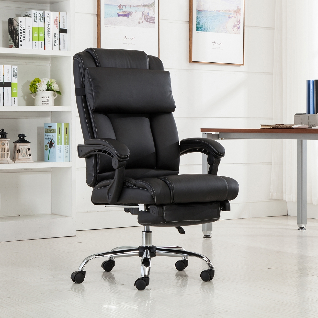 Contemporary Executive Office Chairs With Most Recently Released Executive Reclining Office Chair Ergonomic High Back Leather (View 6 of 20)