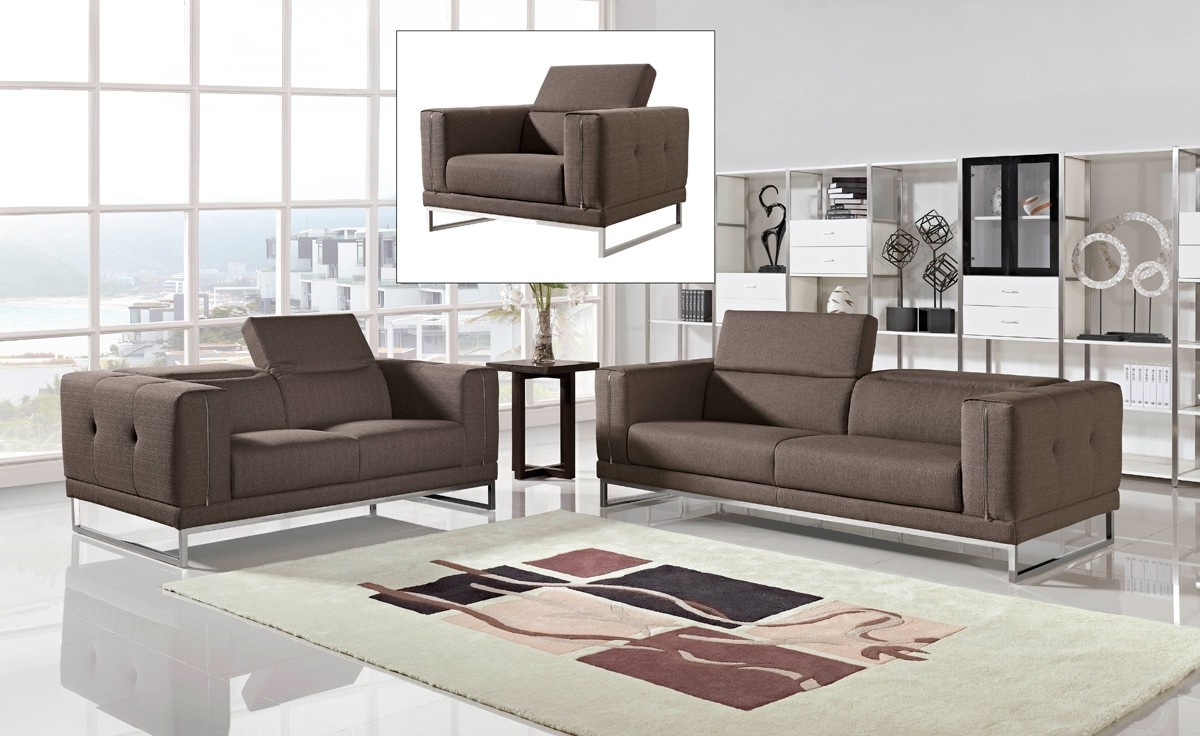 Contemporary Fabric Sofas Within Favorite Sofa : Charming Modern Fabric Sofa Set Cado Furniture Hugo Sofas (View 8 of 20)
