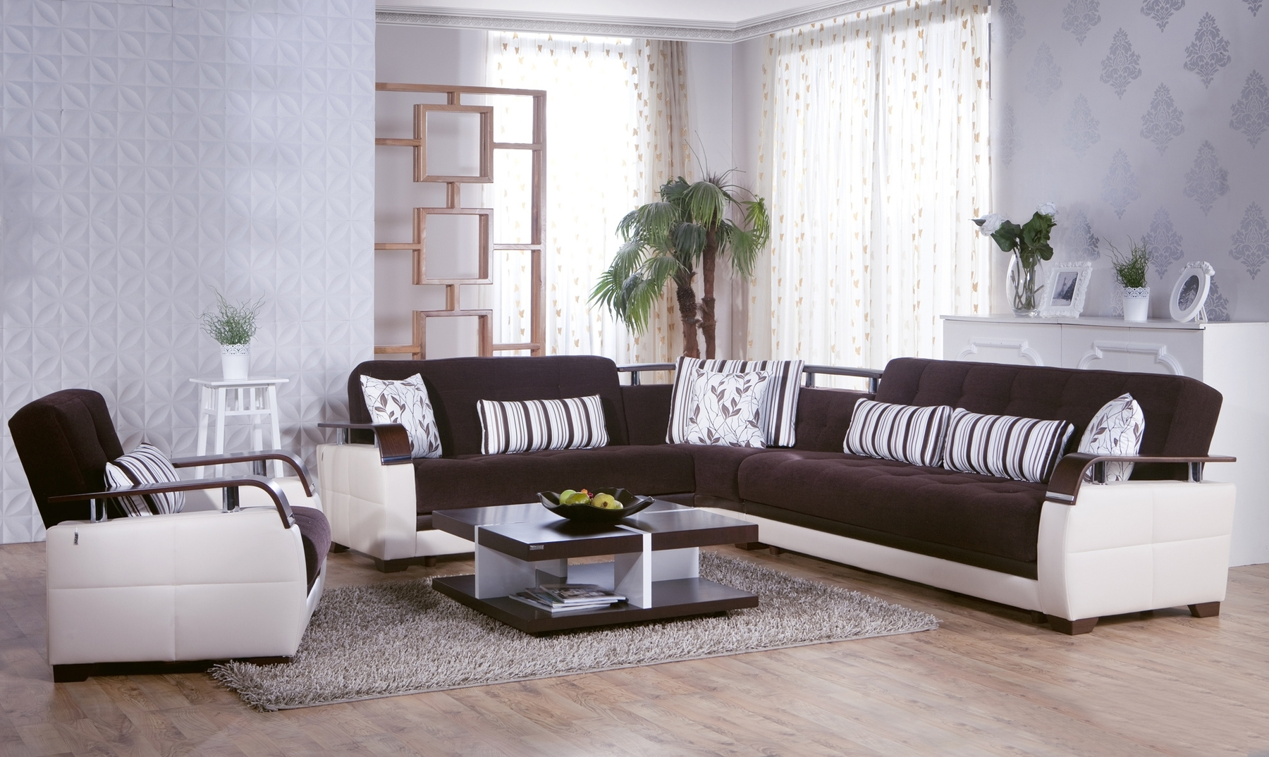 Contemporary Microfiber Sectional Sofa Pertaining To Most Popular Modern Microfiber Sectional Sofas (View 4 of 20)