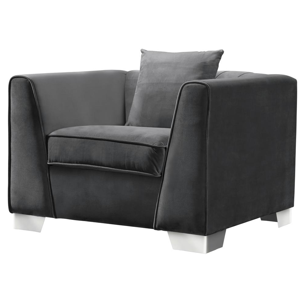 Contemporary Sofa Chairs For Famous Cambridge Armen Living Cambridge Contemporary Sofa Chair In (View 4 of 20)