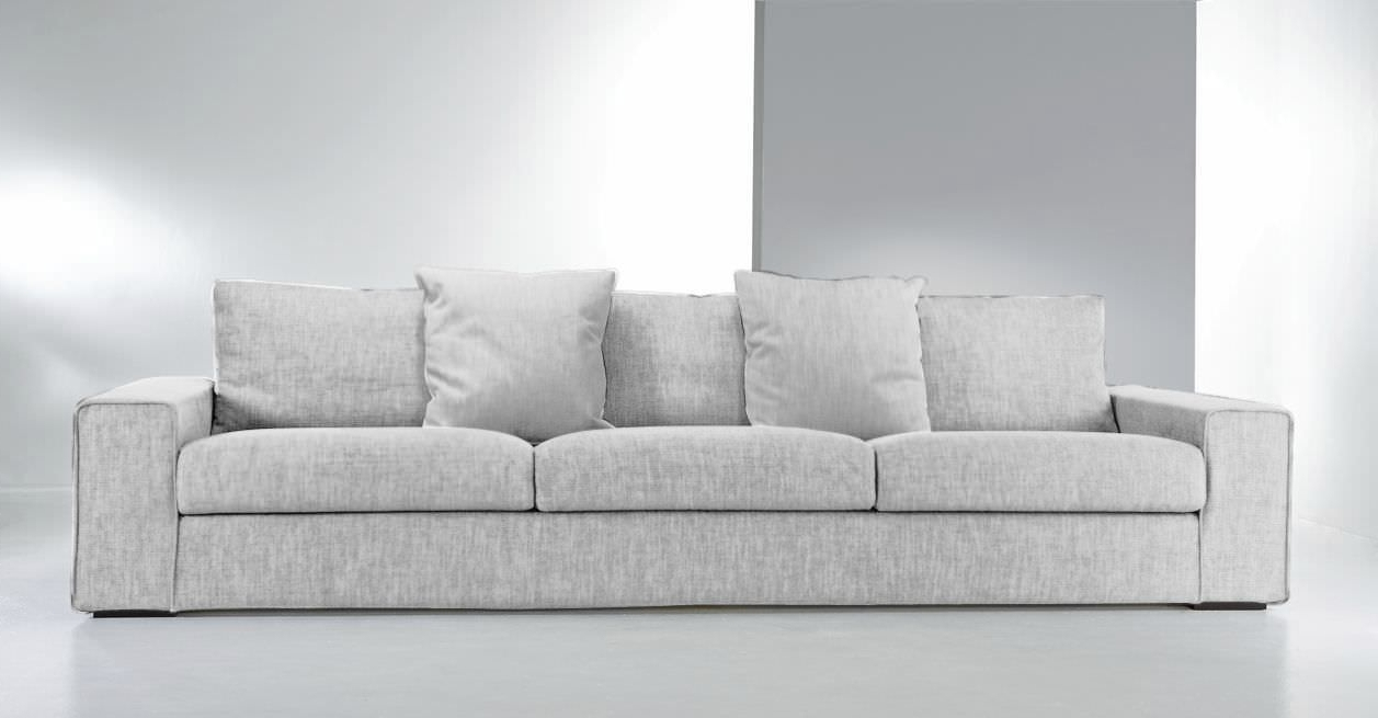 Contemporary Sofa / Fabric / 3 Seater / With Washable Removable Pertaining To Well Liked Modern Sofas (View 3 of 20)