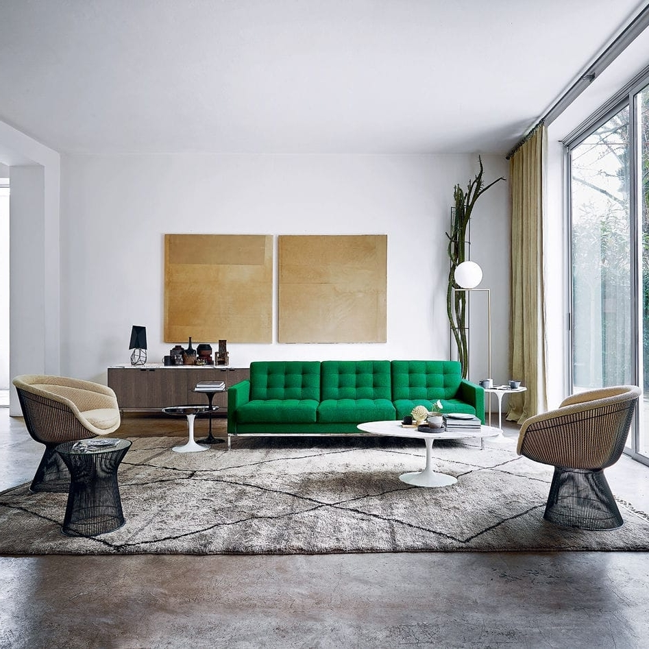 Contemporary Sofa / Fabric / Leather /florence Knoll – Relax Regarding Famous Florence Knoll Living Room Sofas (Gallery 9 of 20)