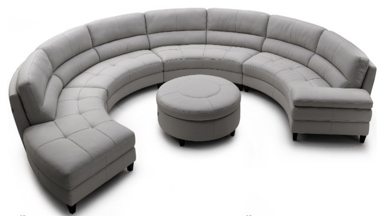 Contemporary Sofas, Half Round Sectional Sofa Half Circle Shaped With Favorite Circle Sofas (View 8 of 20)