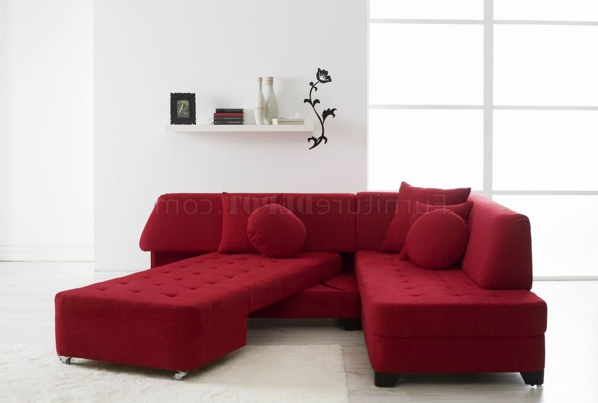 Convertible Sectional Sofas Pertaining To Best And Newest Fabric Modern Convertible Sectional Sofa W/wood Legs (View 16 of 20)