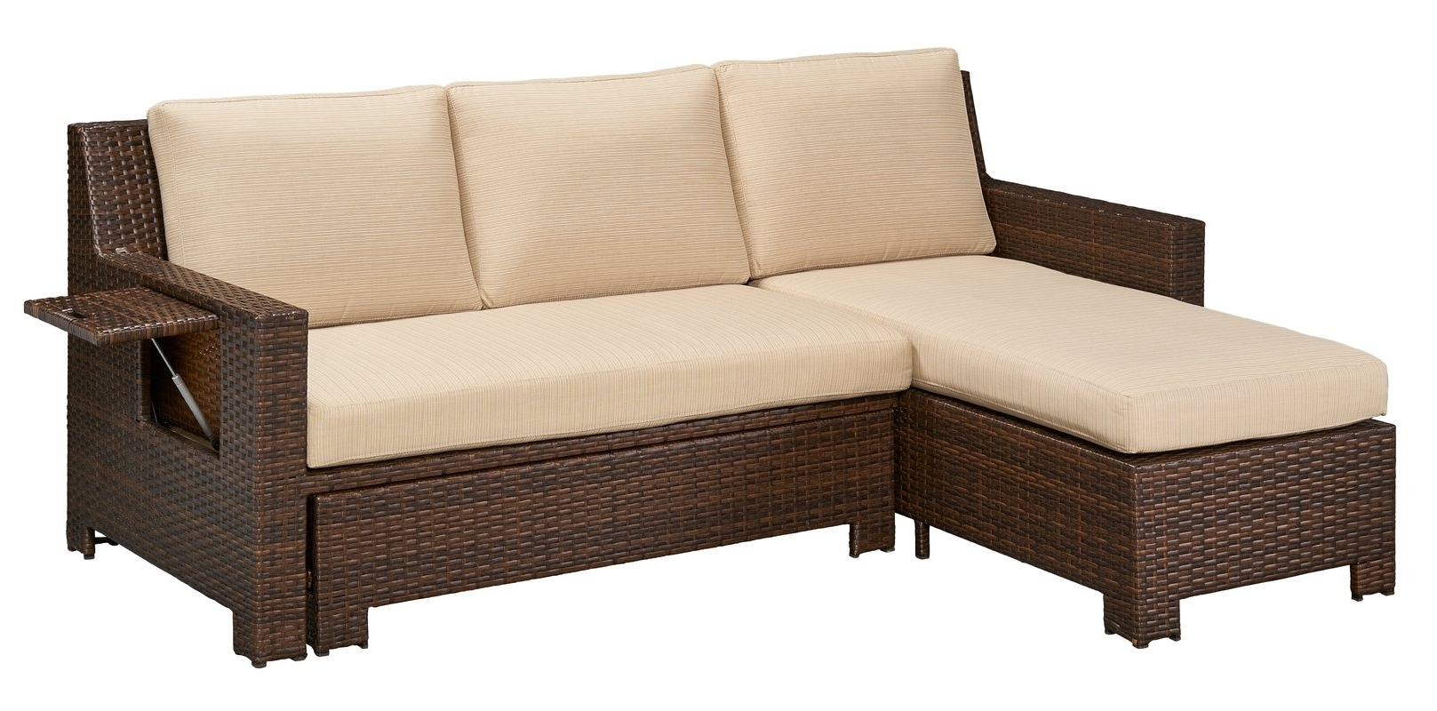Convertible Sectional Sofas Throughout 2019 Darby Home Co Ferndale Deck Convertible Sectional Sofa With (View 7 of 20)