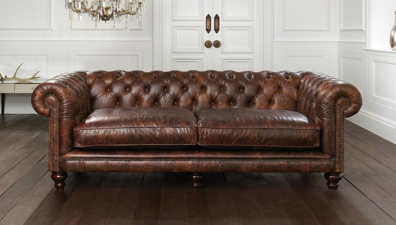 Cool Leather Chesterfield Sofa — Fabrizio Design : Leather Throughout 2018 Leather Chesterfield Sofas (View 4 of 20)