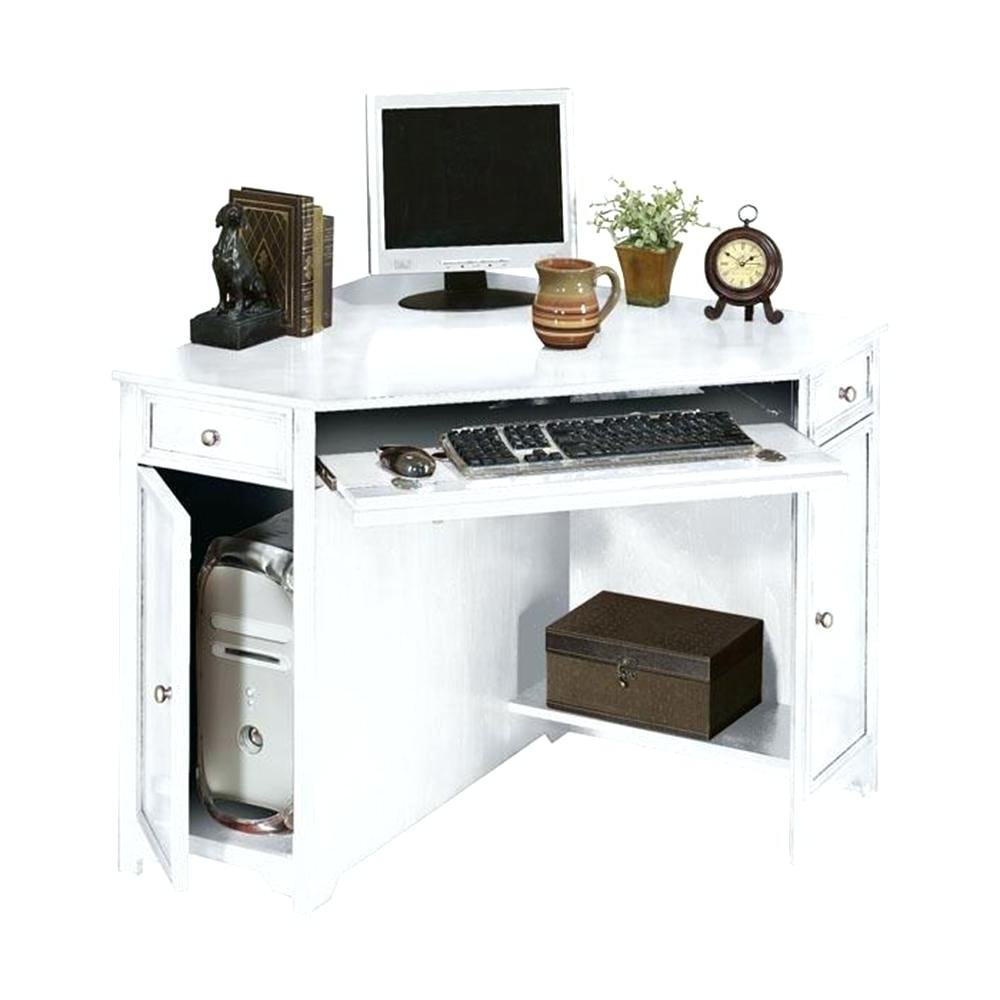Corner Computer Desks White Desk Uk With Hutch For Small Spaces With Regard To Fashionable Computer Desks In White (View 8 of 20)