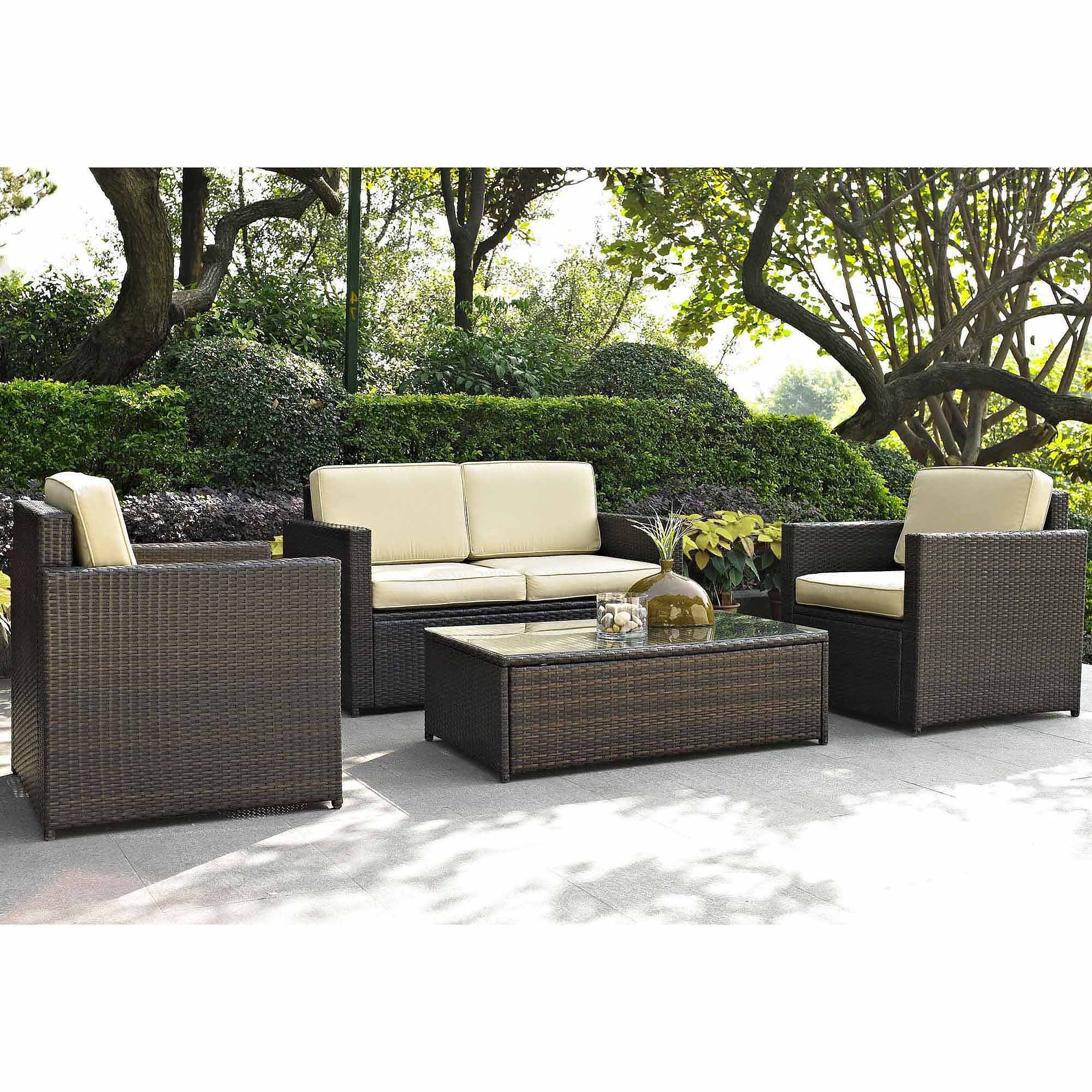 Costway Outdoor Patio 5Pc Furniture Sectional Pe Wicker Rattan Throughout Most Recent Outdoor Sofa Chairs (View 5 of 20)