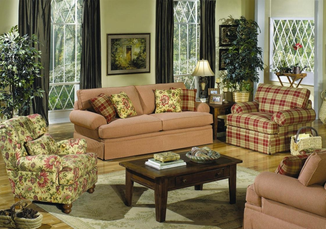 Country Style Living Room Furniture Cottage Style Sofas Living In Preferred Cottage Style Sofas And Chairs (View 2 of 20)