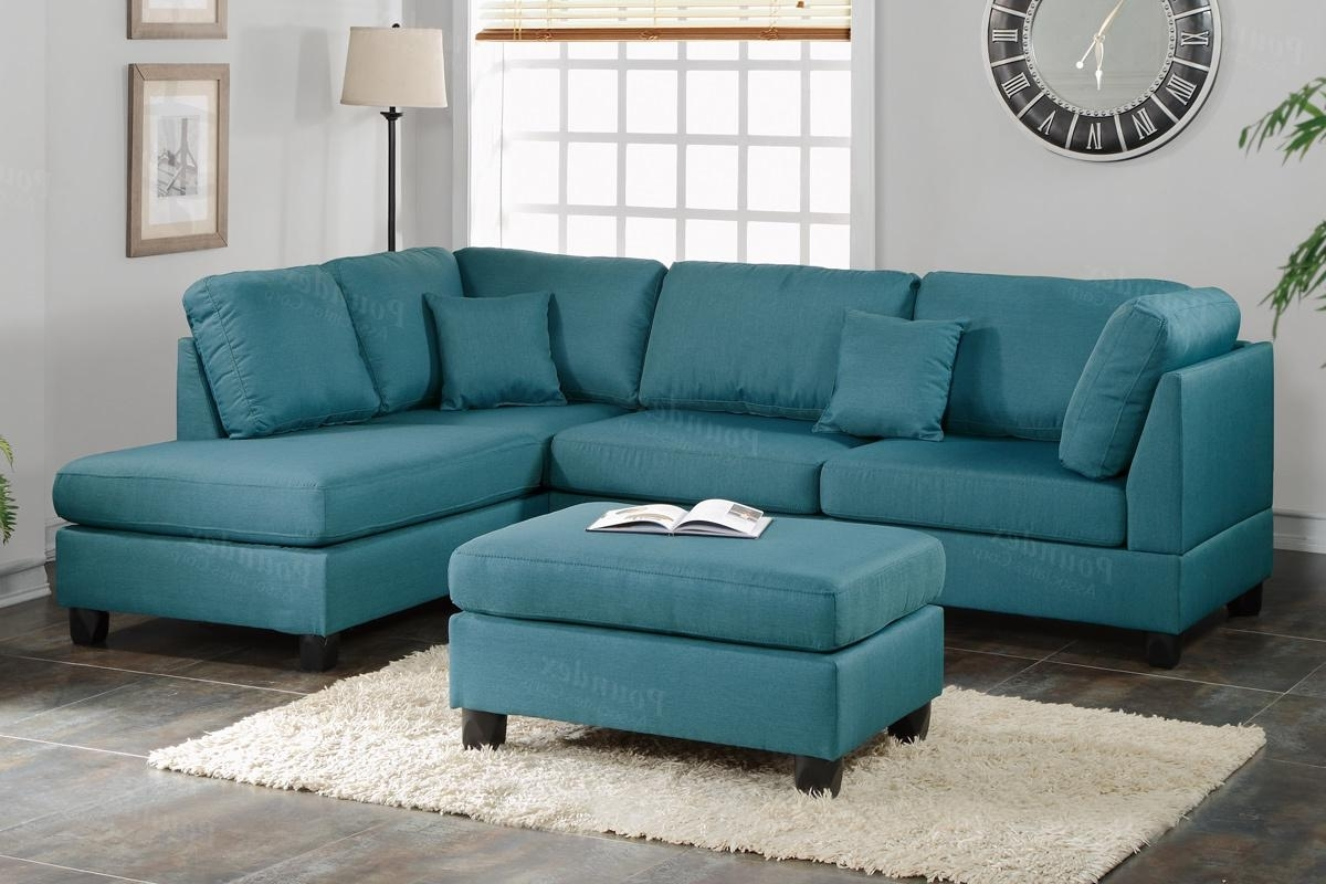 Courtney Blue Fabric Sectional Sofa And Ottoman – Steal A Sofa Throughout Current Blue Sectional Sofas (View 10 of 20)
