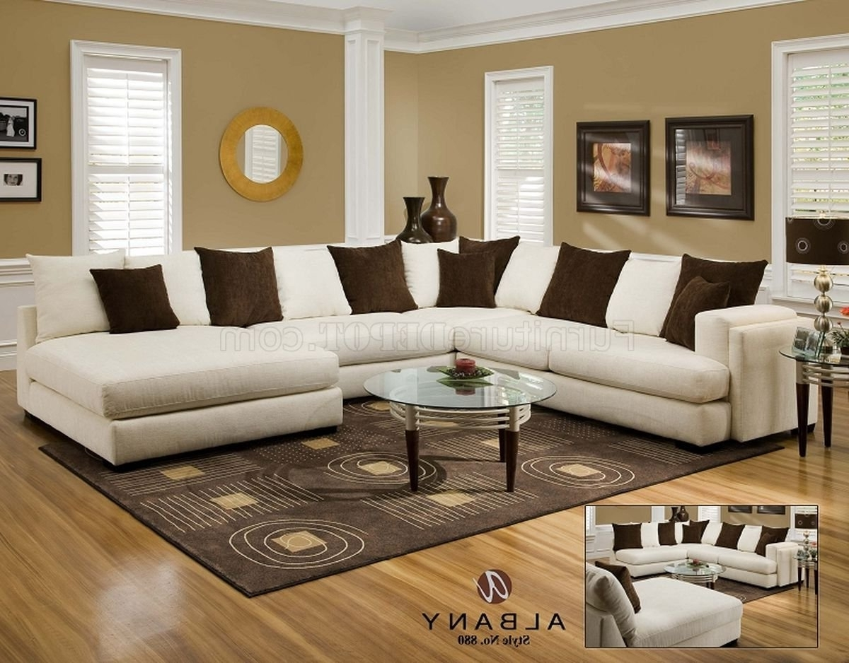 Cover Girl Pearl Fabric Modern Sectional Sofa W/options Intended For 2018 Pensacola Fl Sectional Sofas (View 5 of 20)