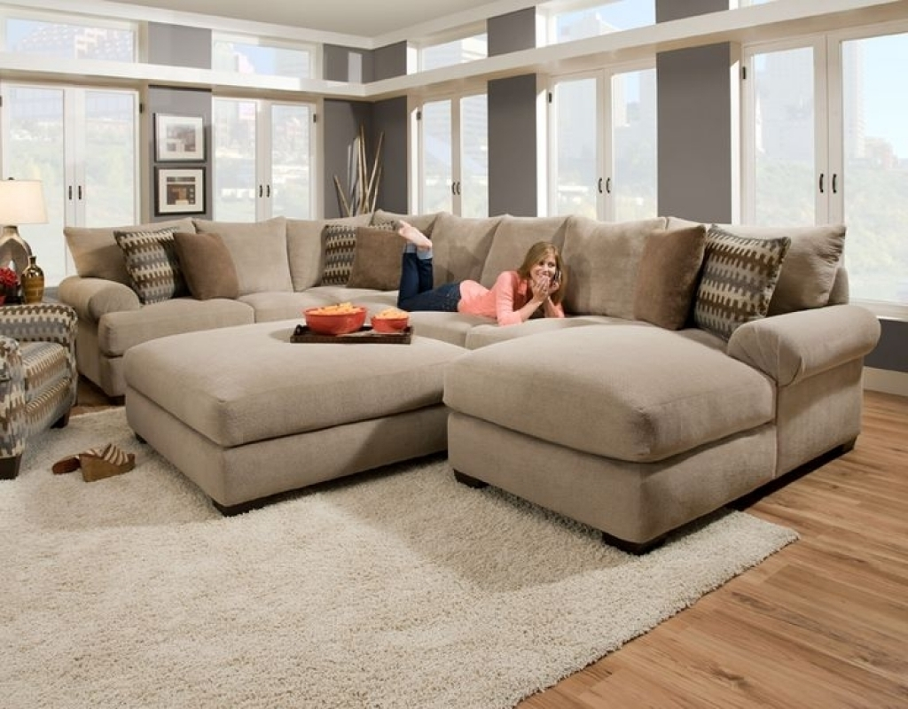 Cozy Oversized Sectional Sofa — Awesome Homes : Super Comfortable With Regard To Most Current Sectional Sofas Under 1000 (Gallery 9 of 20)