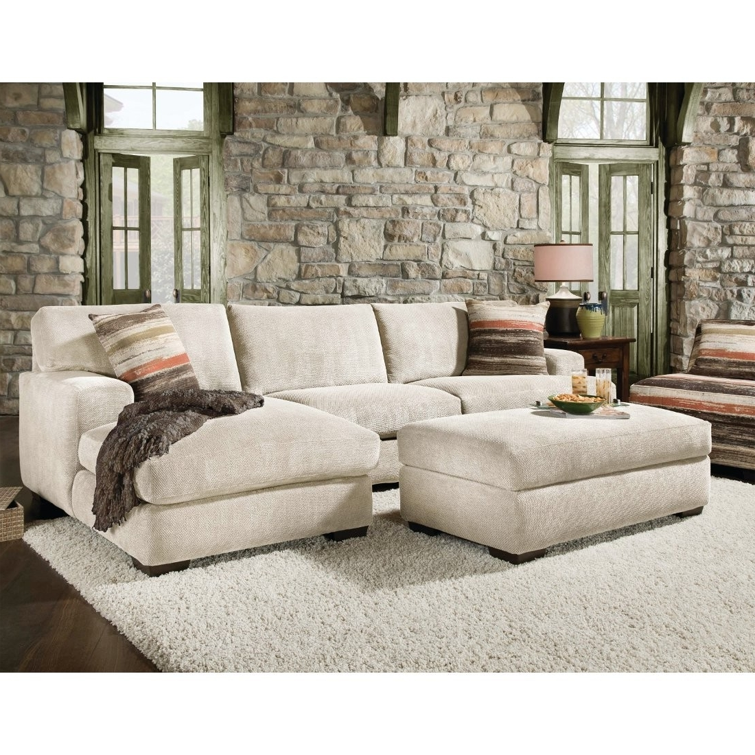 Cozy Sectional Sofa With Chaise And Ottoman 29 About Remodel Down Regarding Most Up To Date Cozy Sectional Sofas (View 5 of 20)