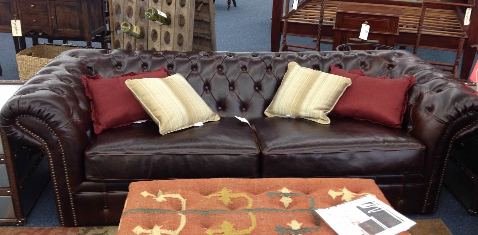 Craigslist Leather Sofas Throughout Well Known Maxwell Sofa Restoration Hardware Rh Maxwell Leather Sofa (View 5 of 20)