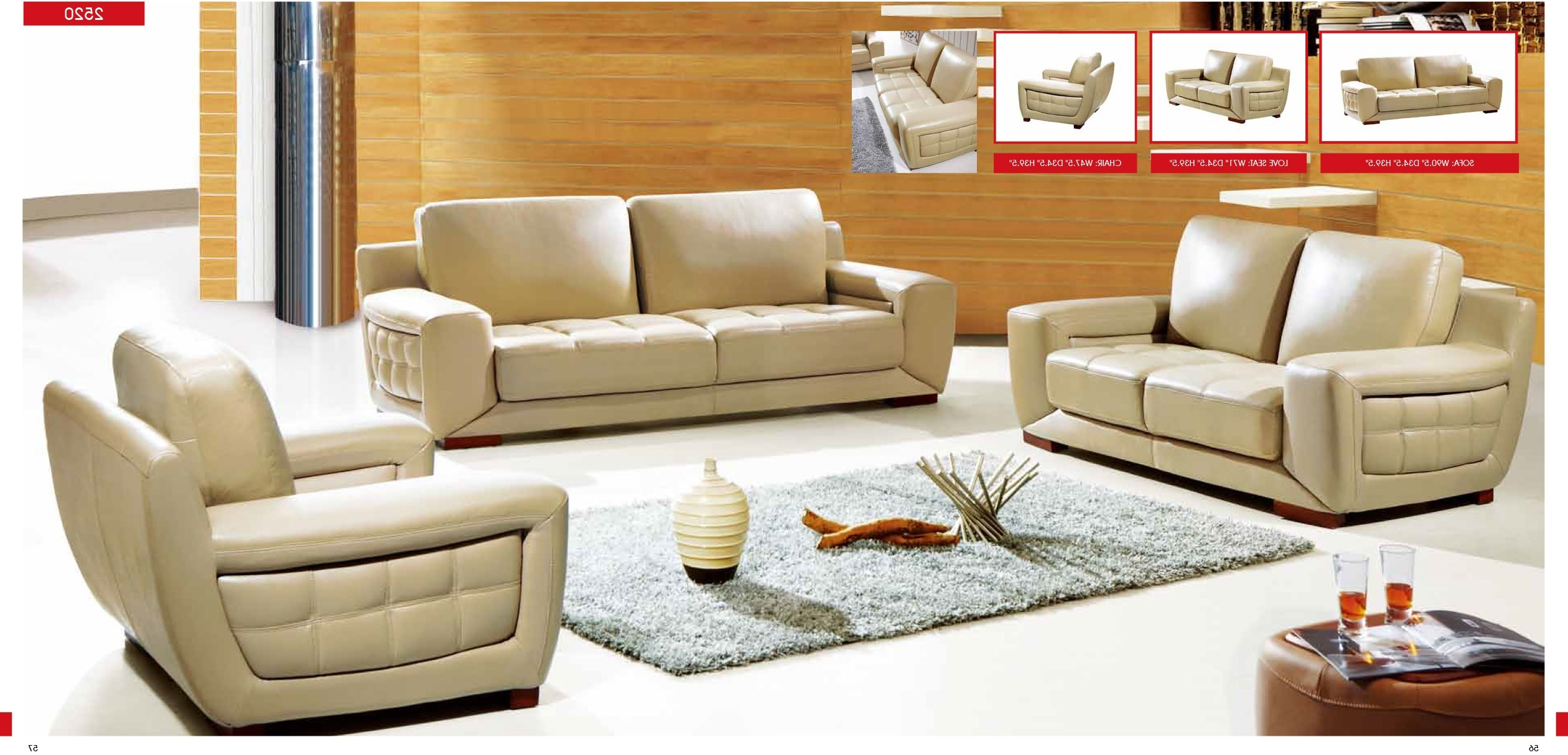 Cream Colored Sofas Throughout Preferred Manhattan Cream Colored Leather Sectional Sofa (View 7 of 20)