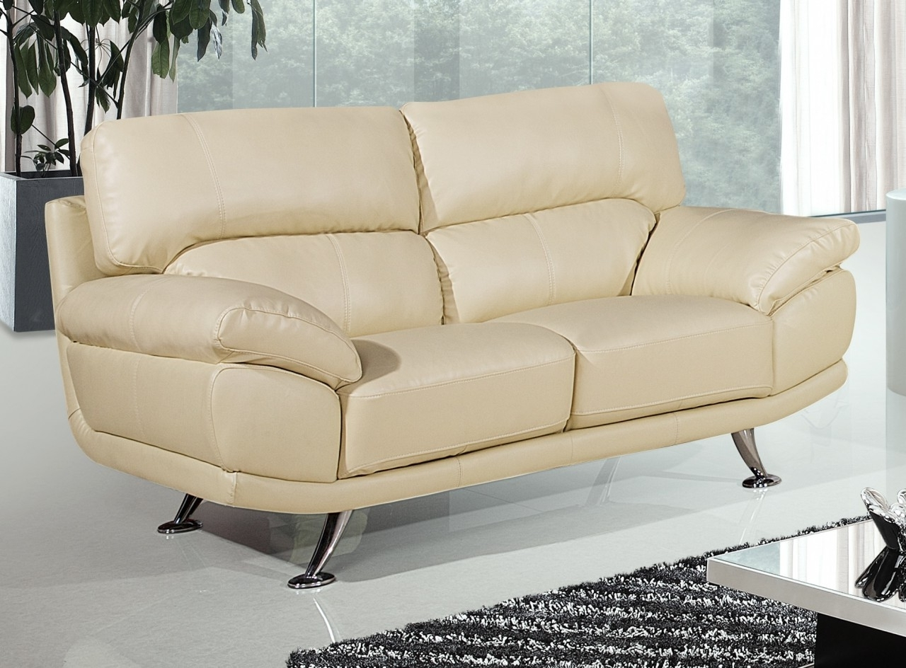 Cream Colored Sofas Within Popular Bali 2 Seater Cream Leather Sofa (View 11 of 20)