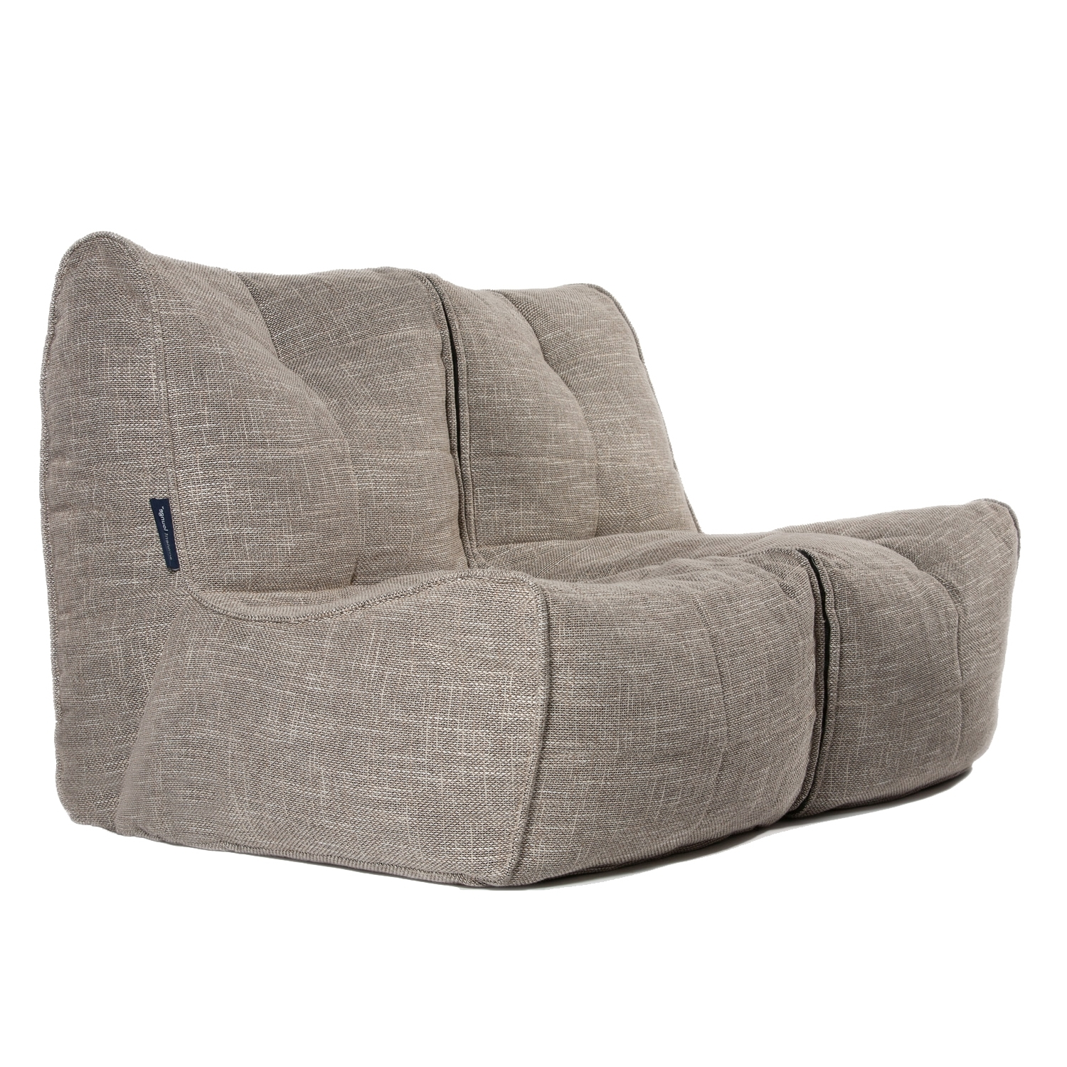 Cream Fabric Throughout Most Popular Bean Bag Sofas (View 8 of 20)