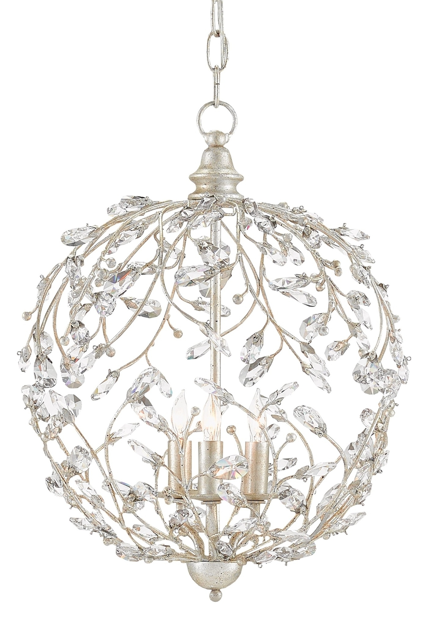 Crystal Bud Sphere Chandelier (View 5 of 20)