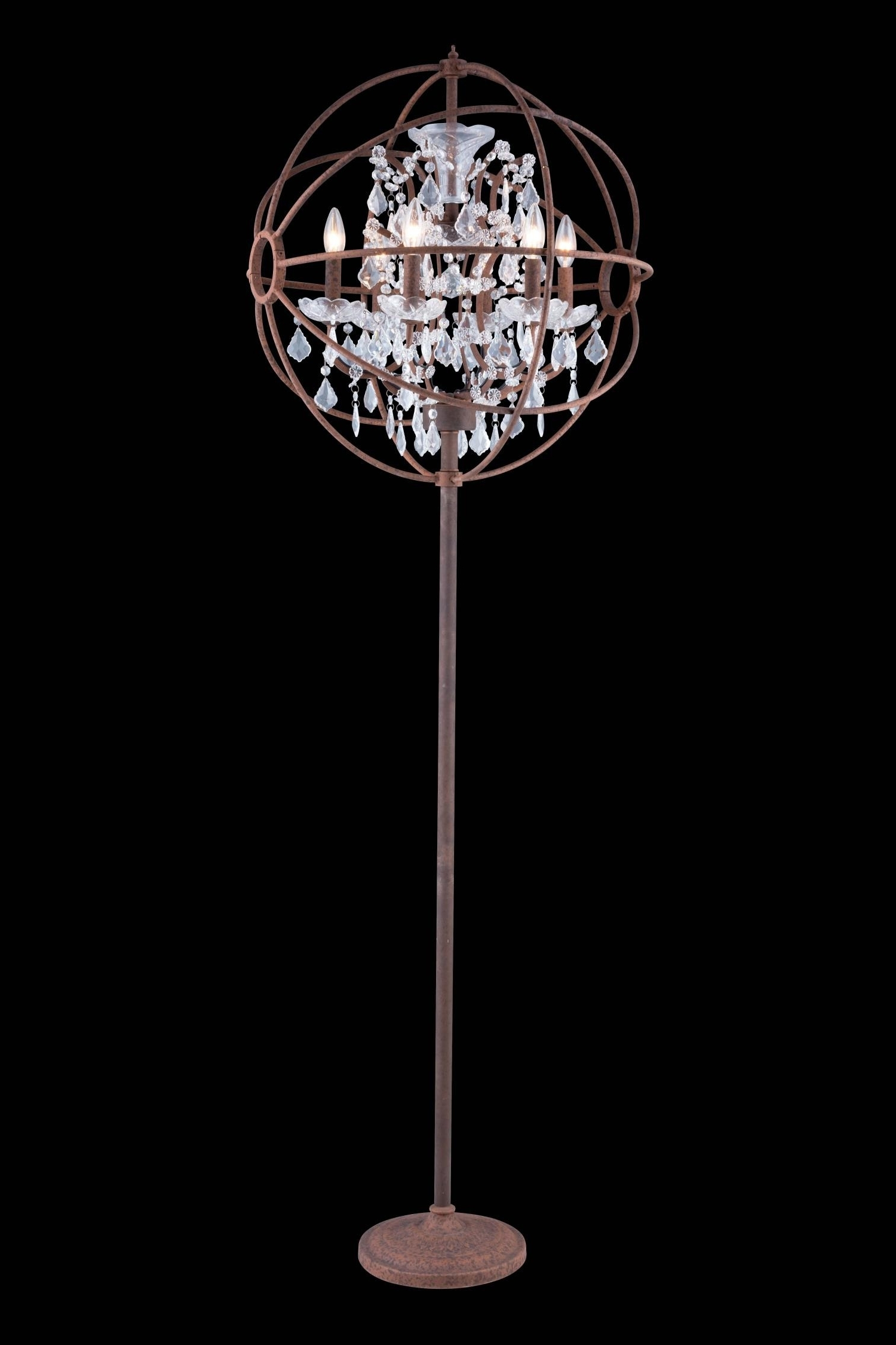Crystal Chandelier  Living Room With Regard To Fashionable Standing Chandeliers (View 6 of 20)