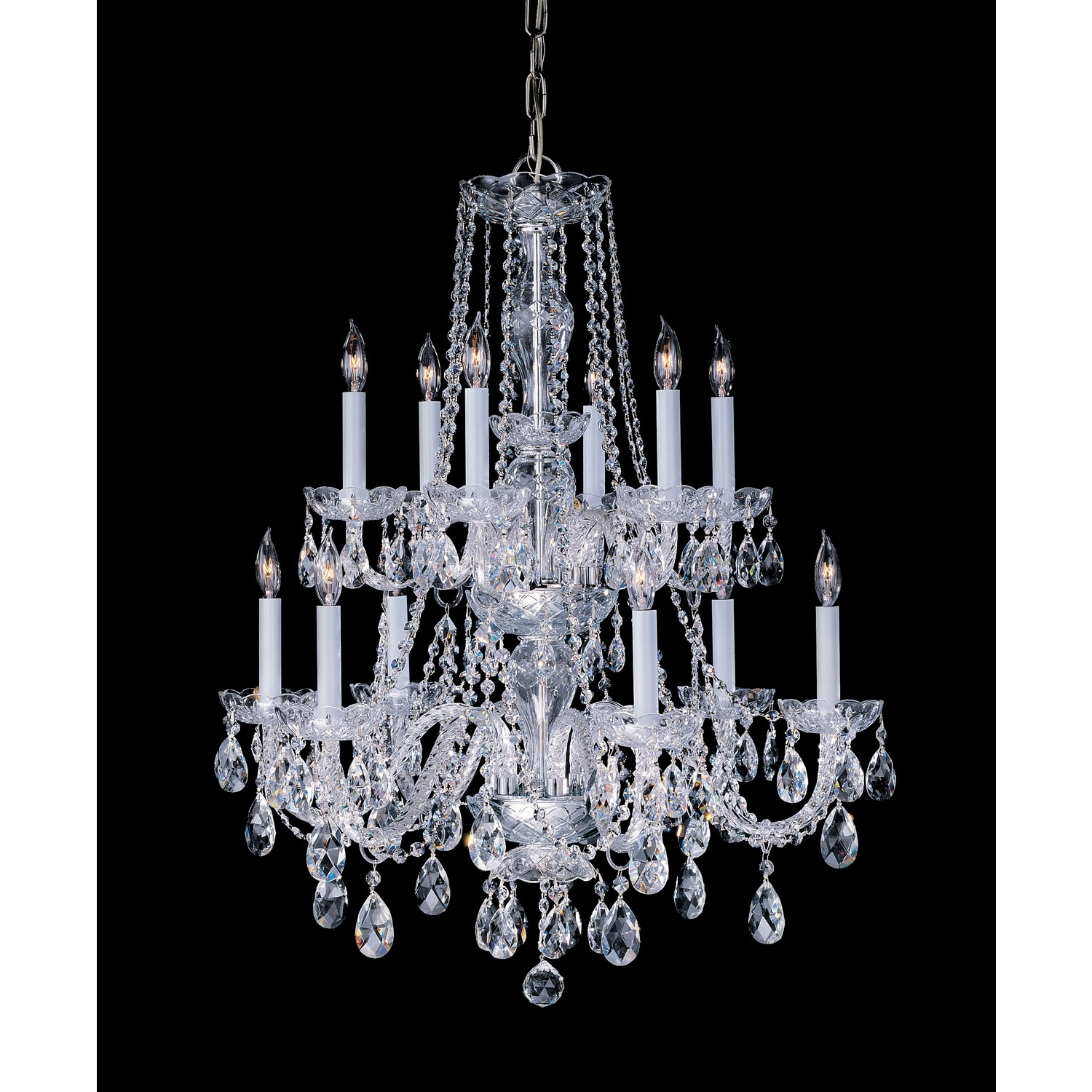 Crystorama Lighting Group Traditional Crystal Polished Brass Twelve Intended For Current Traditional Crystal Chandeliers (View 7 of 20)