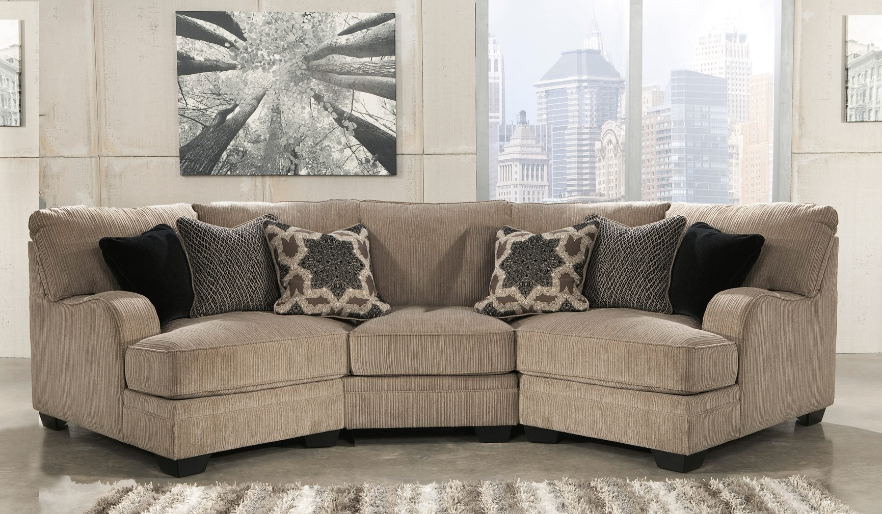 Cuddler Sectional Sofas Inside Fashionable Small Sectional Sofa With Cuddler (View 7 of 20)