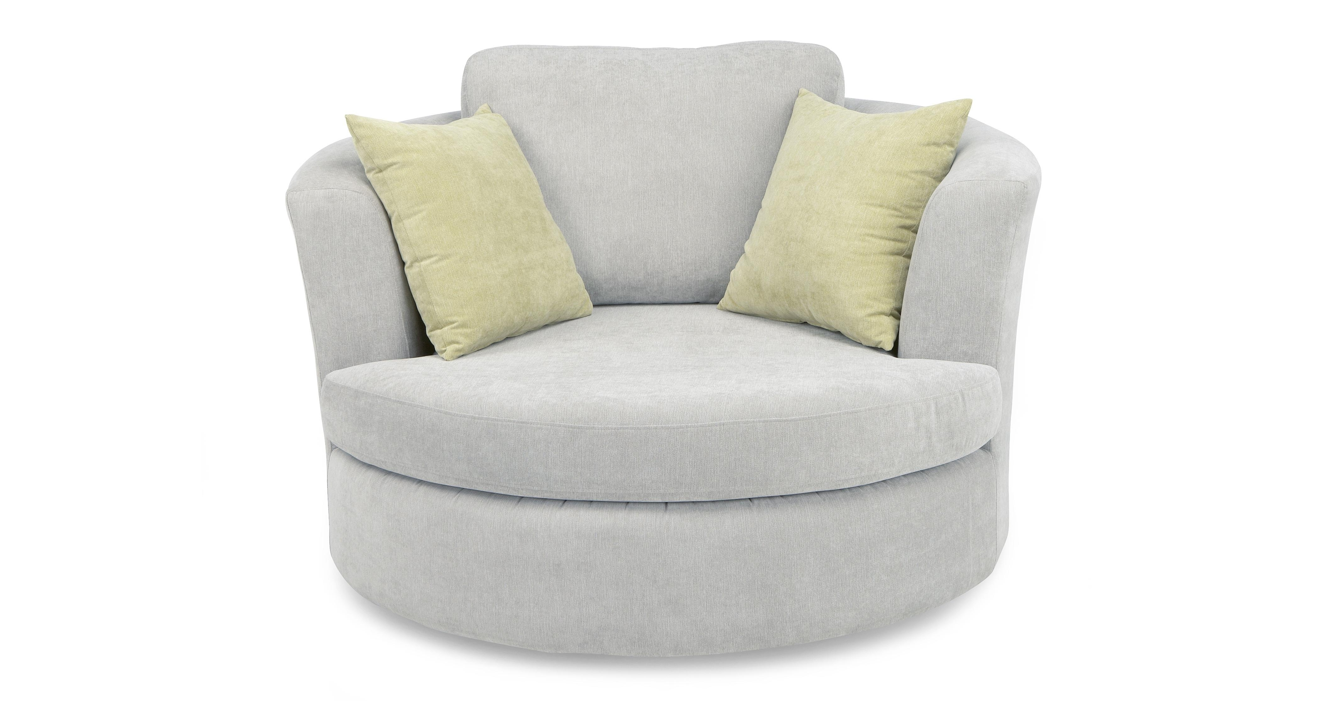 Cuddler Swivel Sofa Chairs Pertaining To 2018 Round Swivel Cuddle Chair (View 12 of 20)
