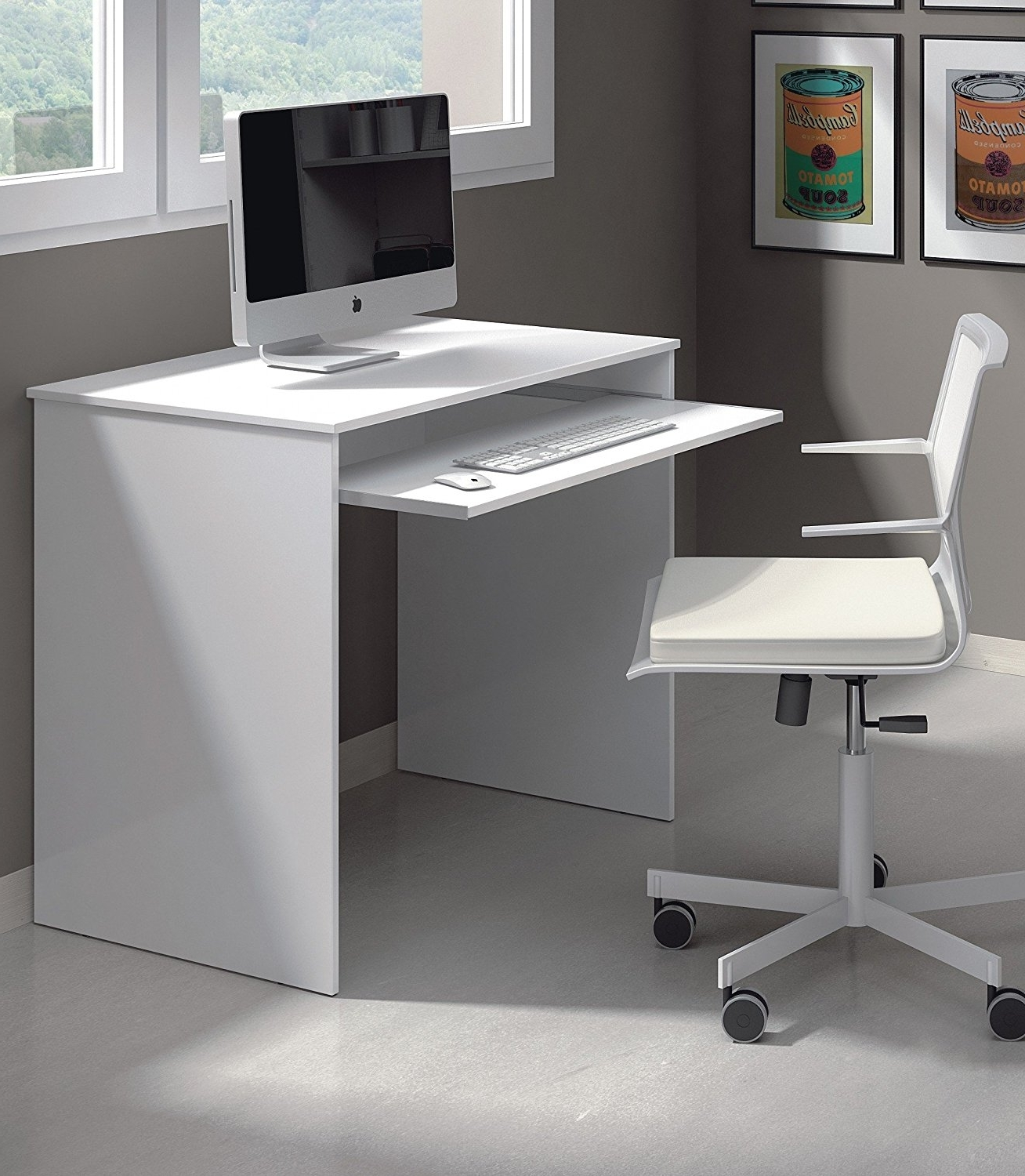 Current Amazon Computer Desks With Regard To How To Make Your Boring Small White Computer Desk Interesting (View 13 of 20)