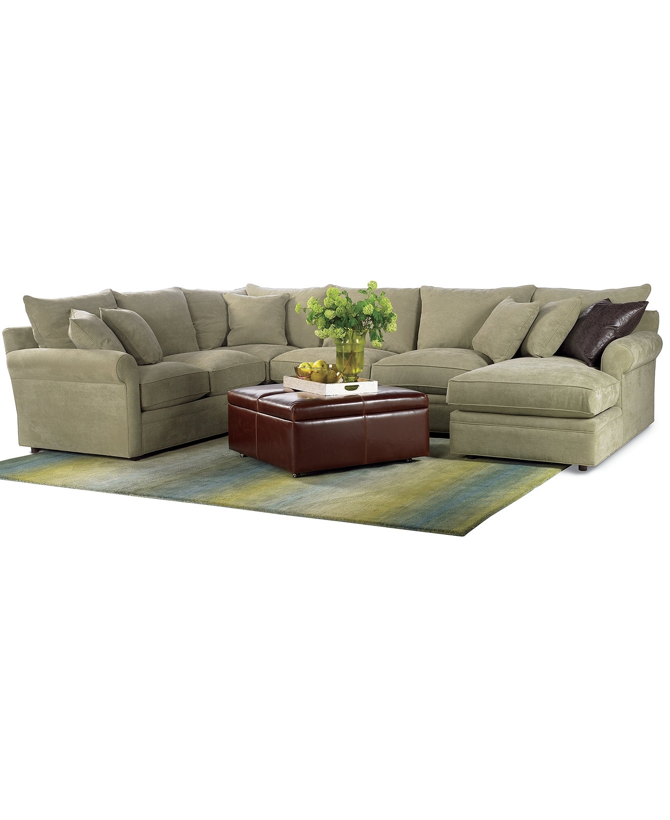 Current Armless Sectional Sofas Within Doss Fabric Microfiber Sectional Sofa, 4 Piece (left Arm Facing (View 16 of 20)
