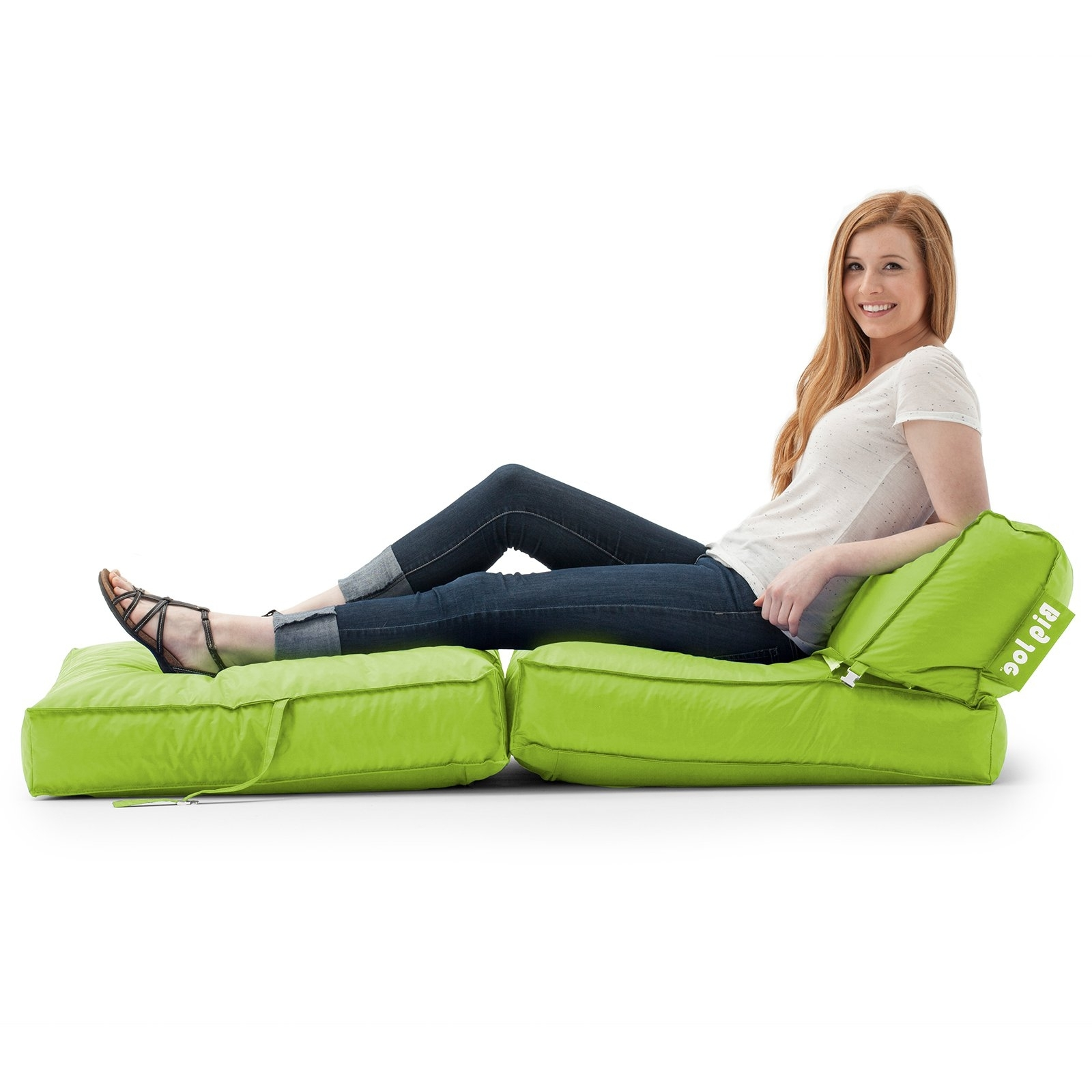 Current Bean Bag Sofas And Chairs For Big Joe Flip Lounger Bean Bag Chair – Walmart (View 17 of 20)