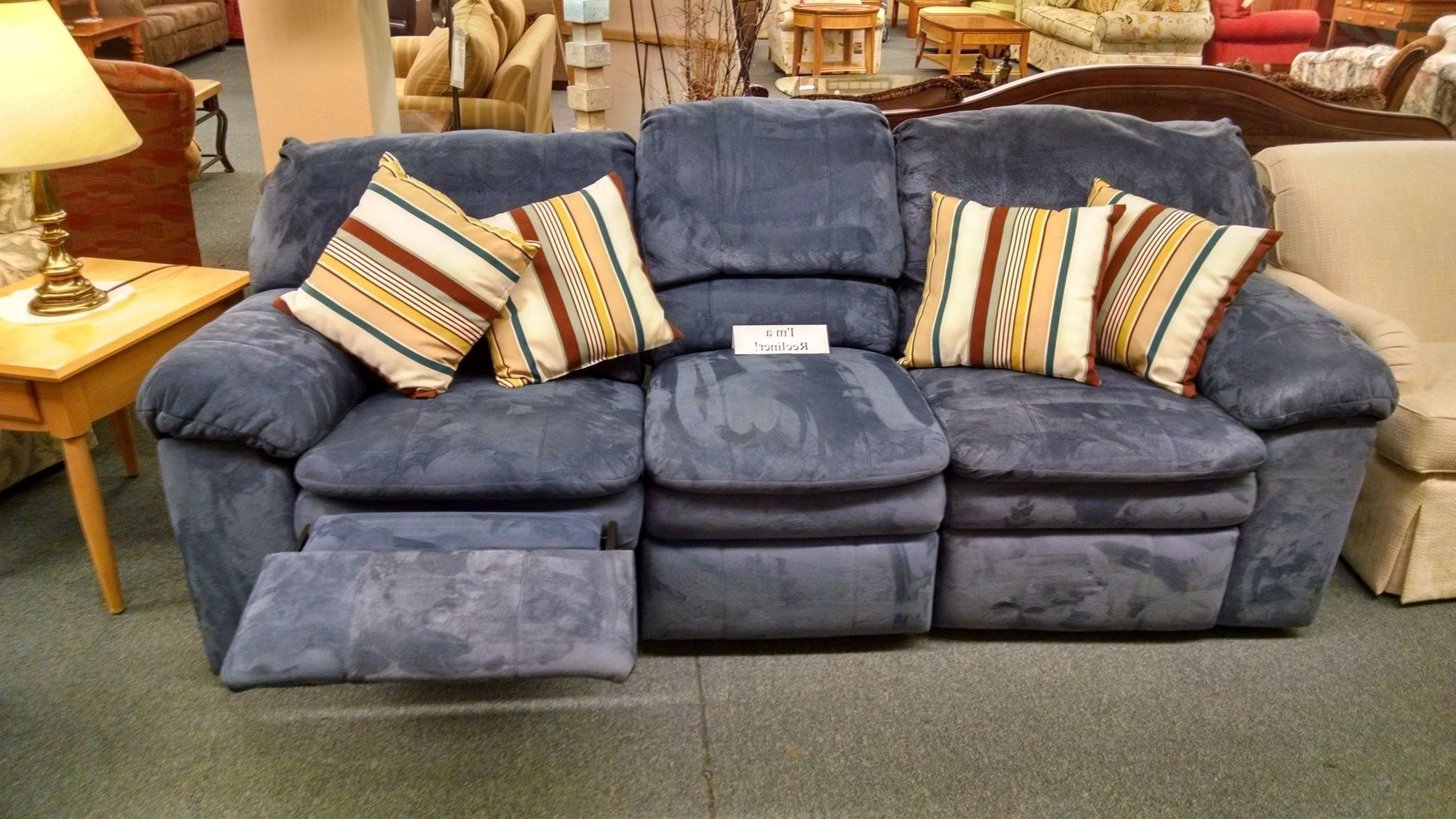 Current Berkline Sofas Regarding Berkline Blue Reclining Sofa (View 9 of 20)