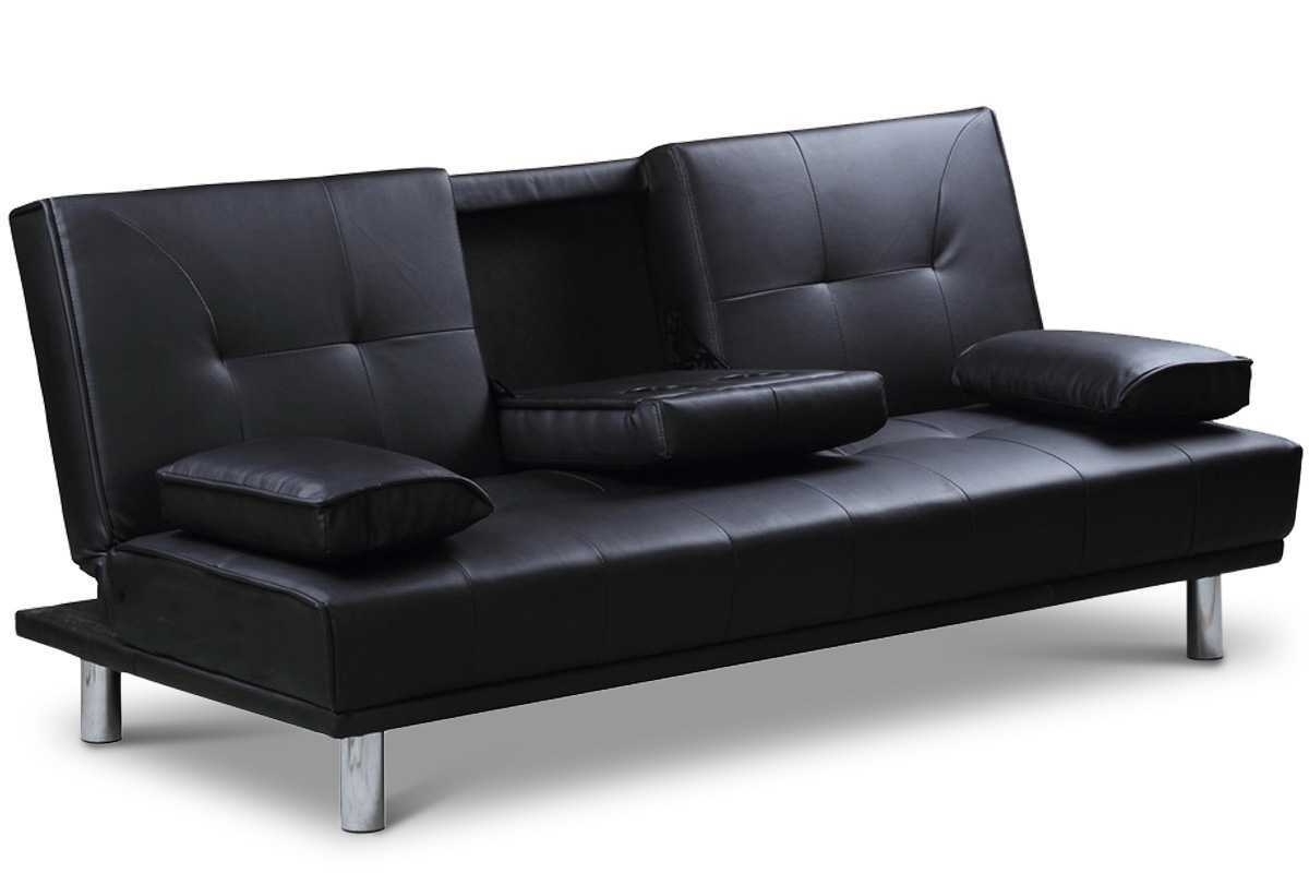 Current Black Faux Leather Sofa – Visionexchange.co With Regard To Economax Sectional Sofas (Gallery 12 of 20)