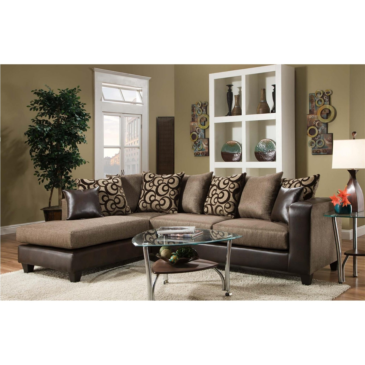 Current Chelsea Home Furniture 424124 Ame Sectional – Homeclick Inside Home Furniture Sectional Sofas (View 10 of 20)
