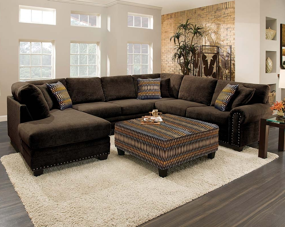 Current Chocolate Sectional Sofas In This Sectional Sofa Is Gigantic! As In Three Pieces, Gigantic (View 7 of 20)