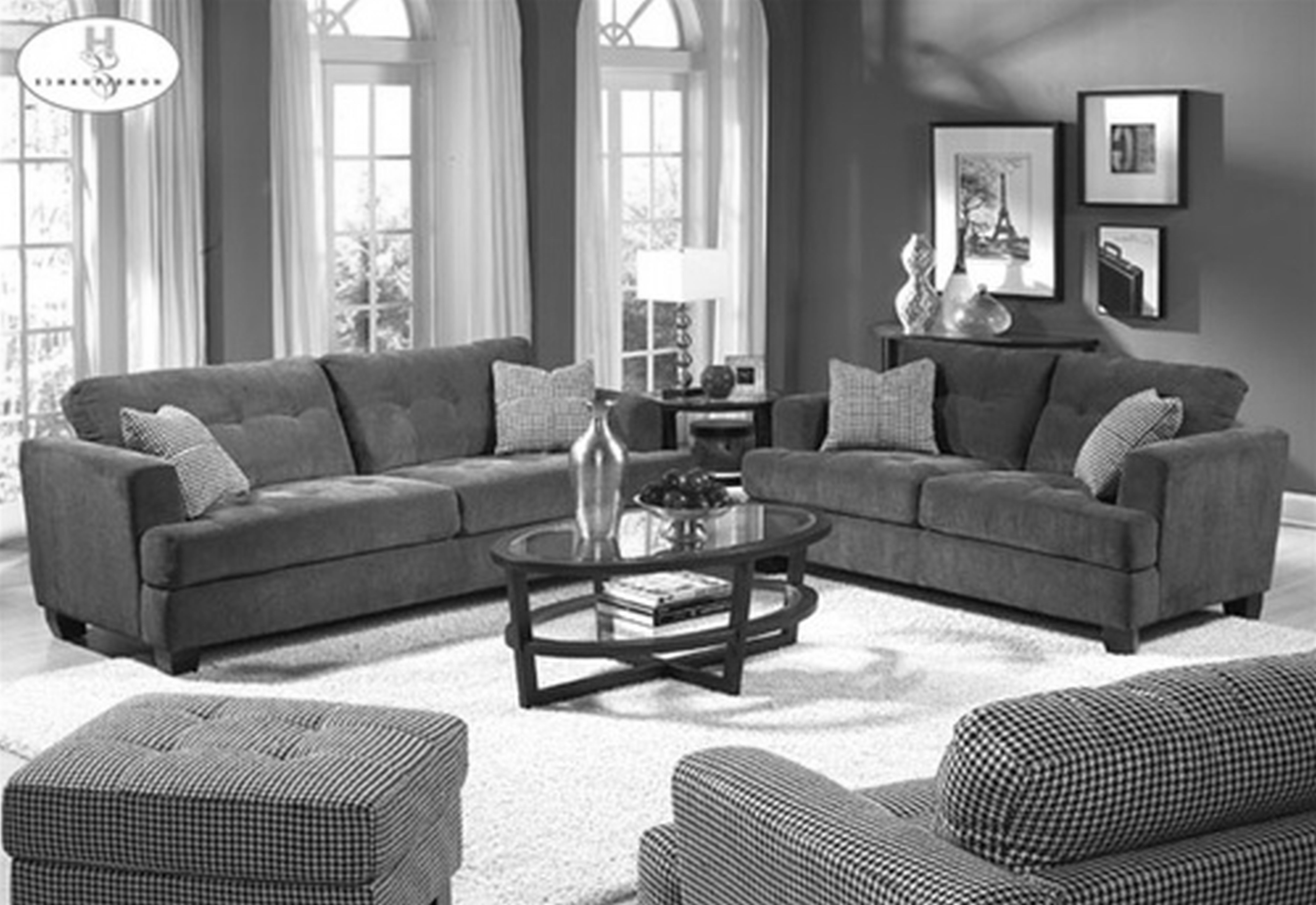 Current Colorful Sofas And Chairs Throughout Living Room Ideas Grey Walls Sofa Chairs Crystal Chandelier Grey (View 8 of 20)