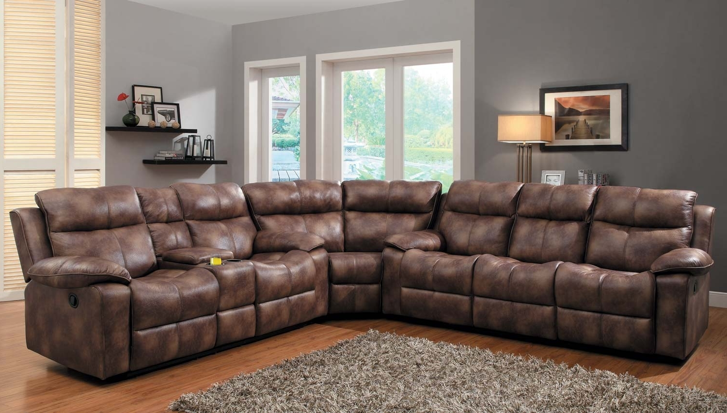 Current Curved Sectional Sofas With Recliner Within Furniture: Inspiring Reclining Sectional For Living Room Furniture (View 14 of 20)